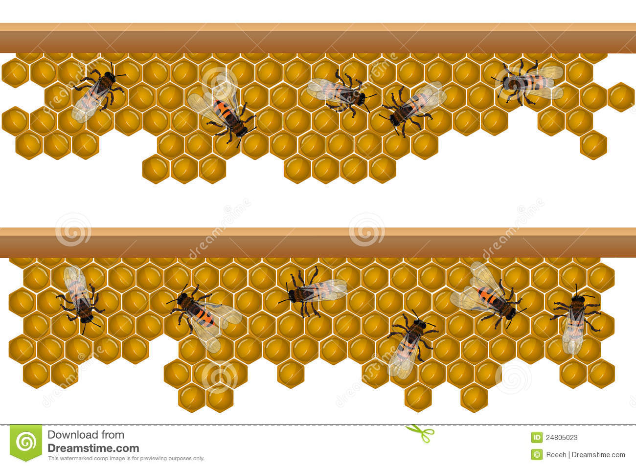 Bee hive pattern stock vector. Illustration of working