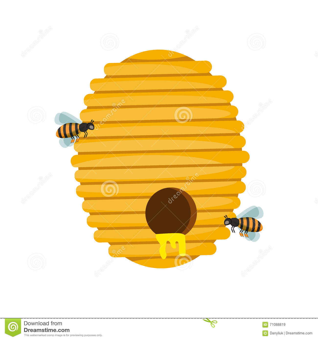 Bee Hive Vector Illustration