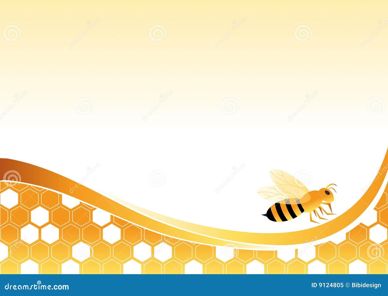 Bee On Honey Cells Roy...