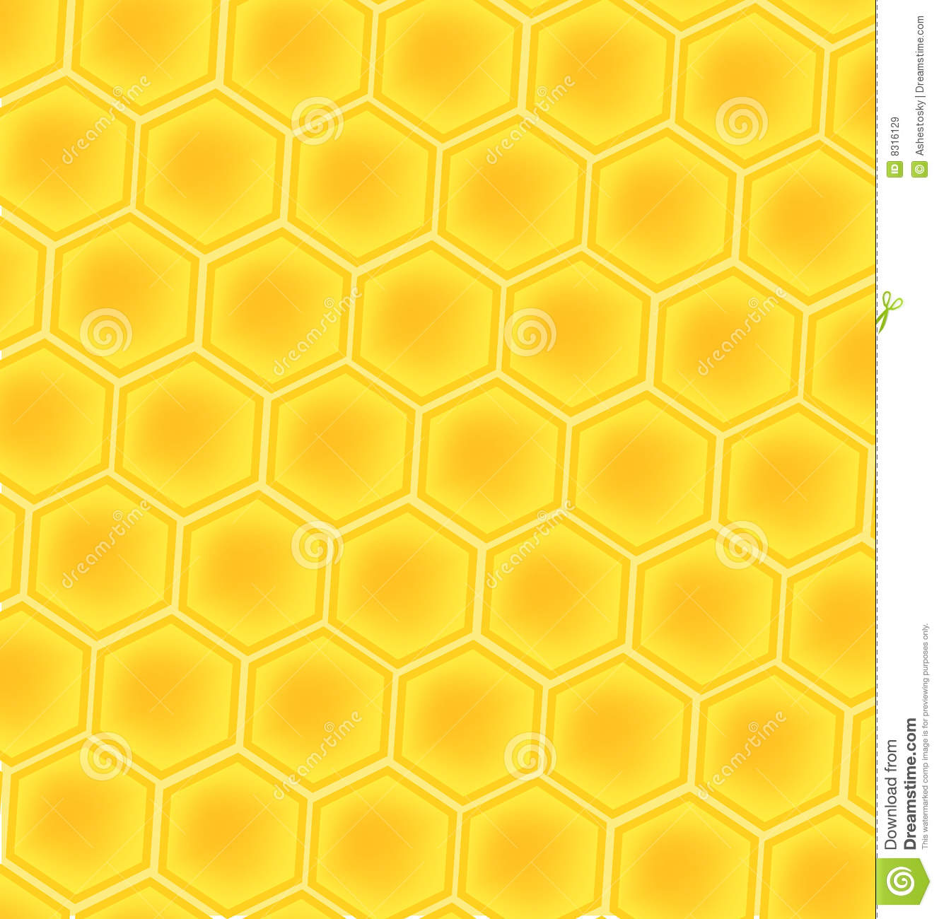 Bee Honey Cells Background Royalty Free Stock Images - Image: 8316129