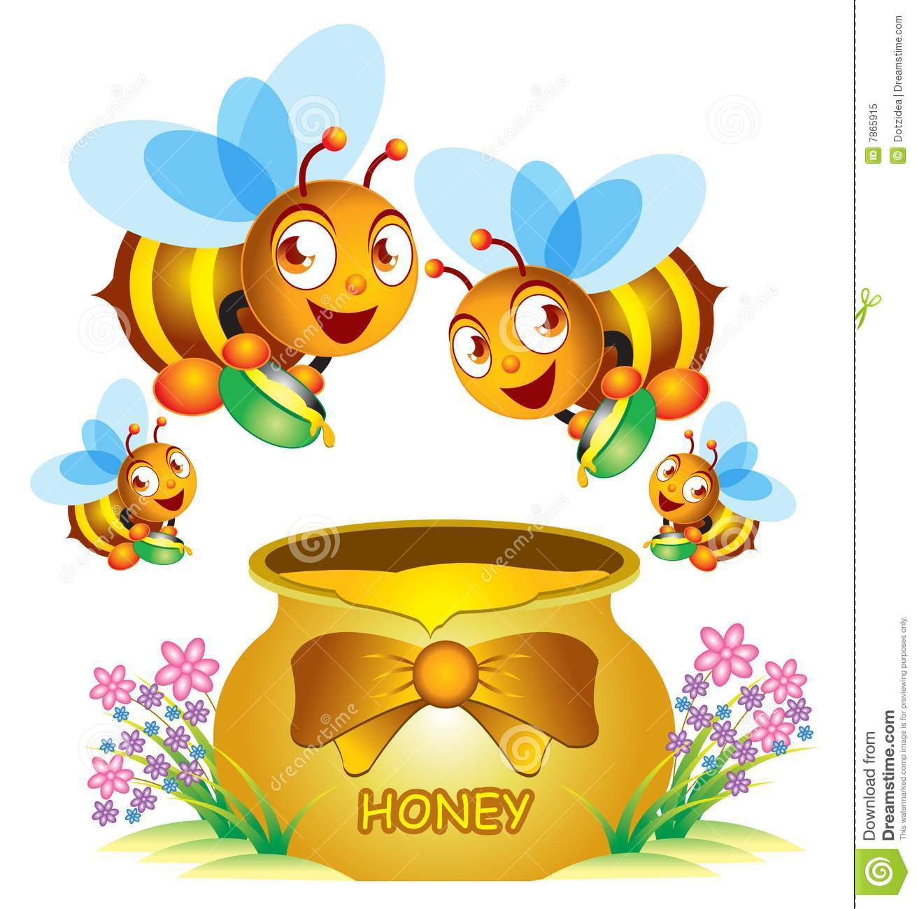 Free Clipart Working Bee