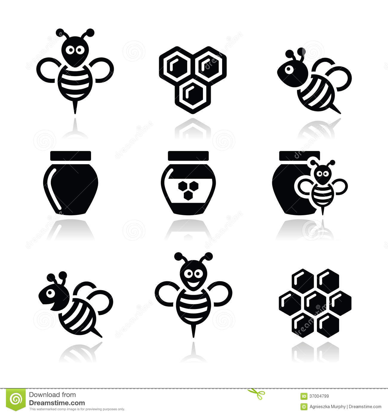 bee and honey vector icons set royalty free stock images Bee Outline Vector Bee Outline Vector