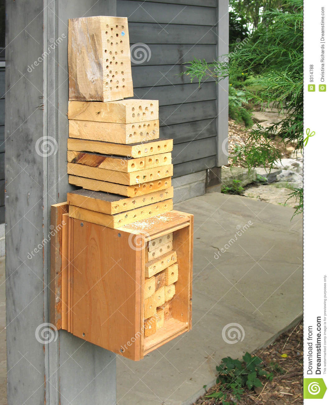 Bee House For Orchard Mason Bees Royalty Free Stock Photos