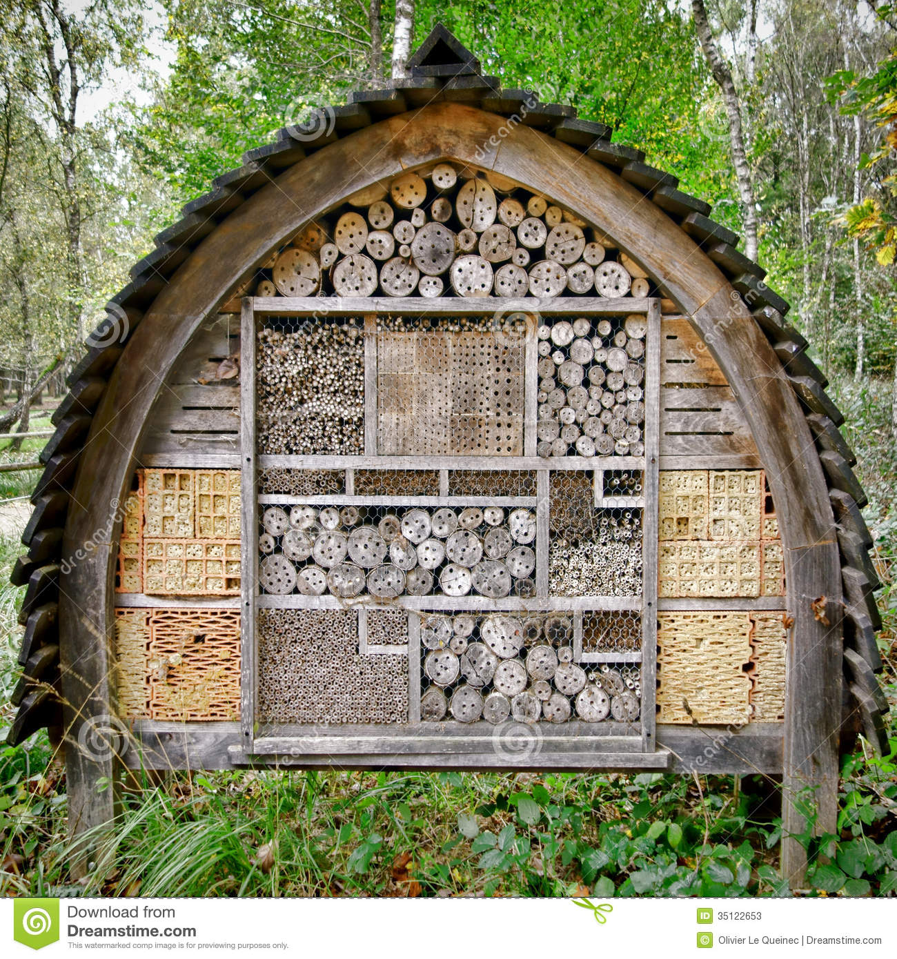 Bee And Insect Nesting Box Tree House Complex Stock Photos Image 35122653