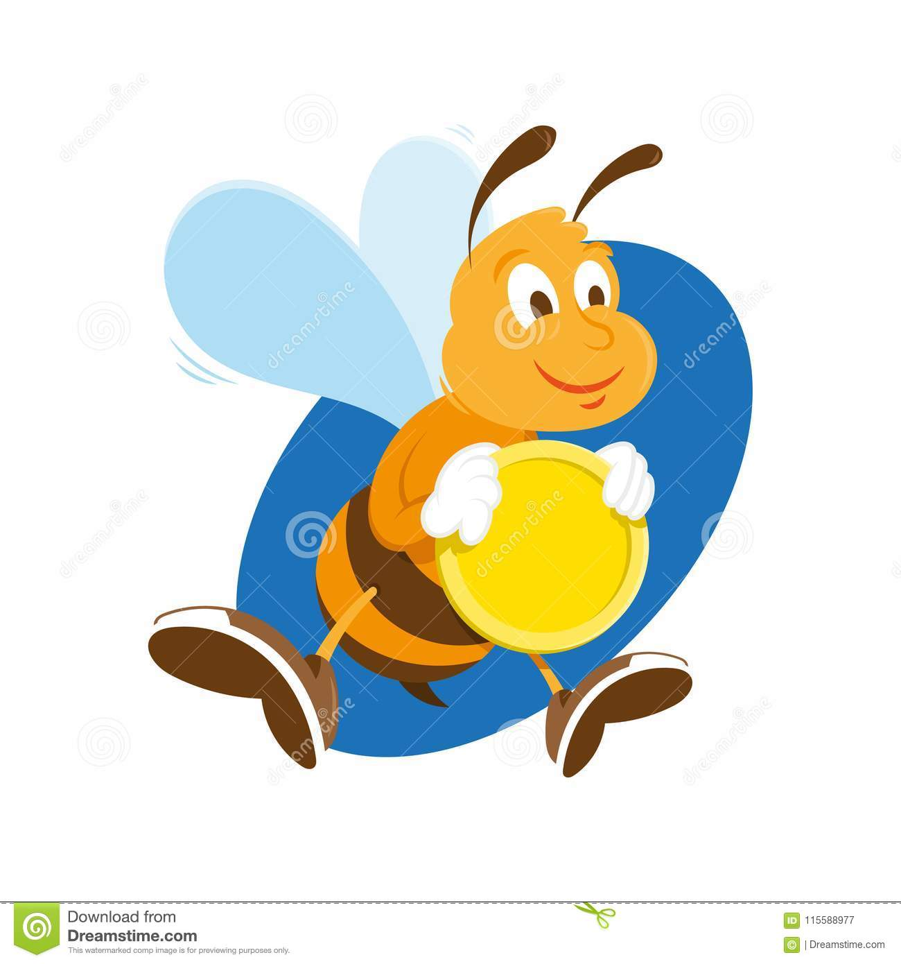 b3a3482b5144 Bee keep gold coin stock vector. Illustration of coin - 115588977