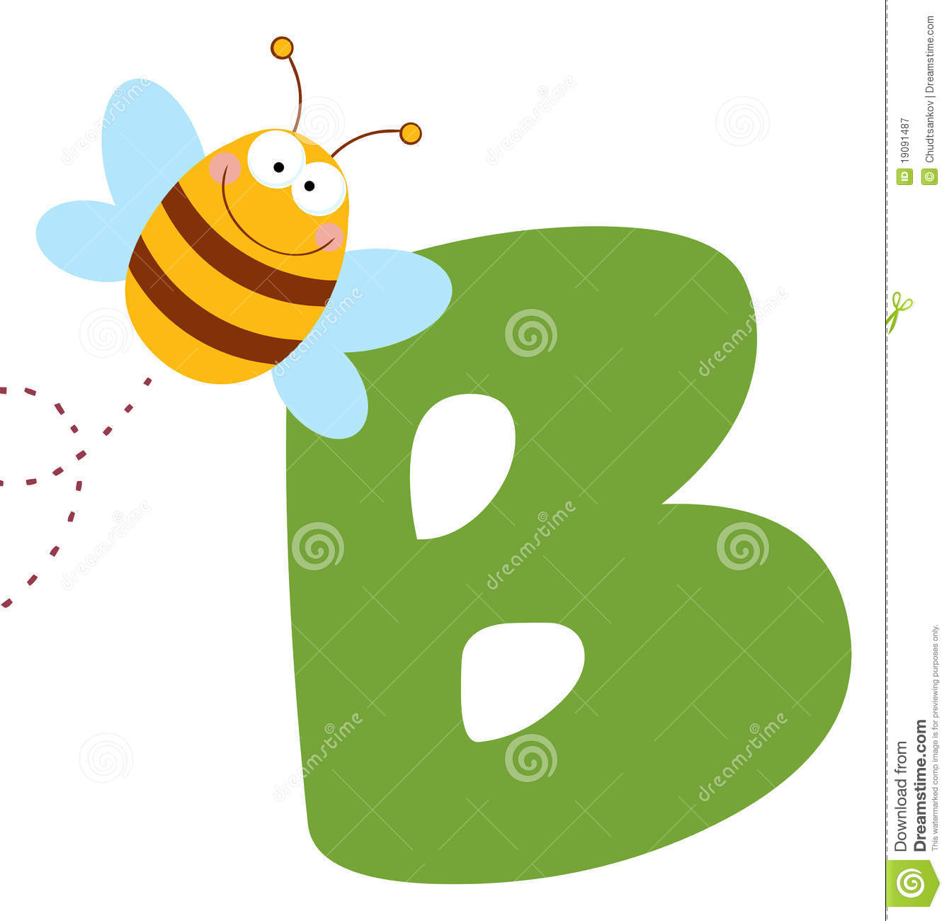 Royalty Free Stock Photography: Bee with letters b title=