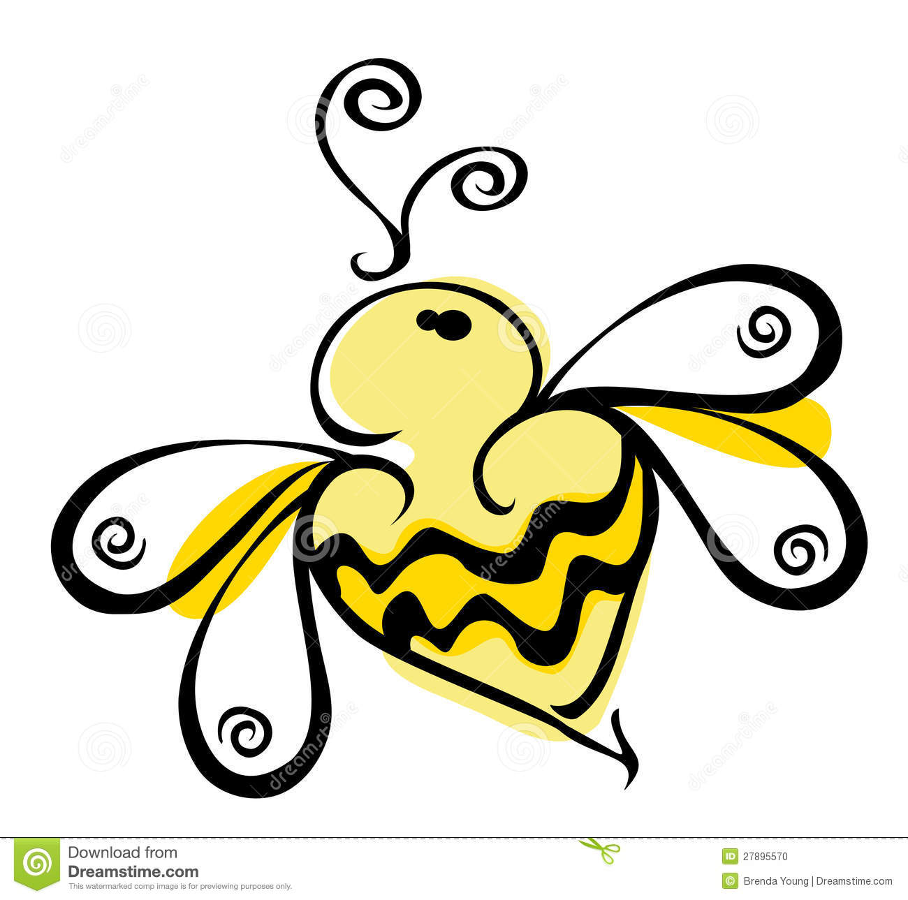 Tattoo scorpion stock photos and images - Bee Logo Stock Photo Image 27895570