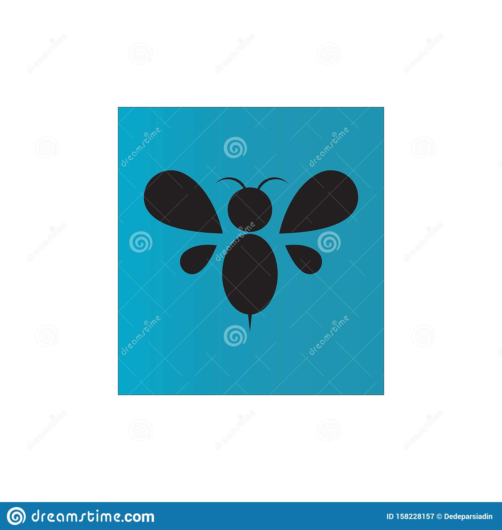 Bee Farm Vintage Isolated Label:  Bee Stock Vector. Illustration Of Drawing, Farm