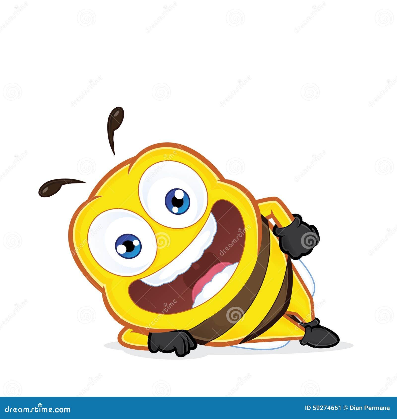 Bee Lying Down Stock Vector Illustration Of Lazy Honeybee 59274661