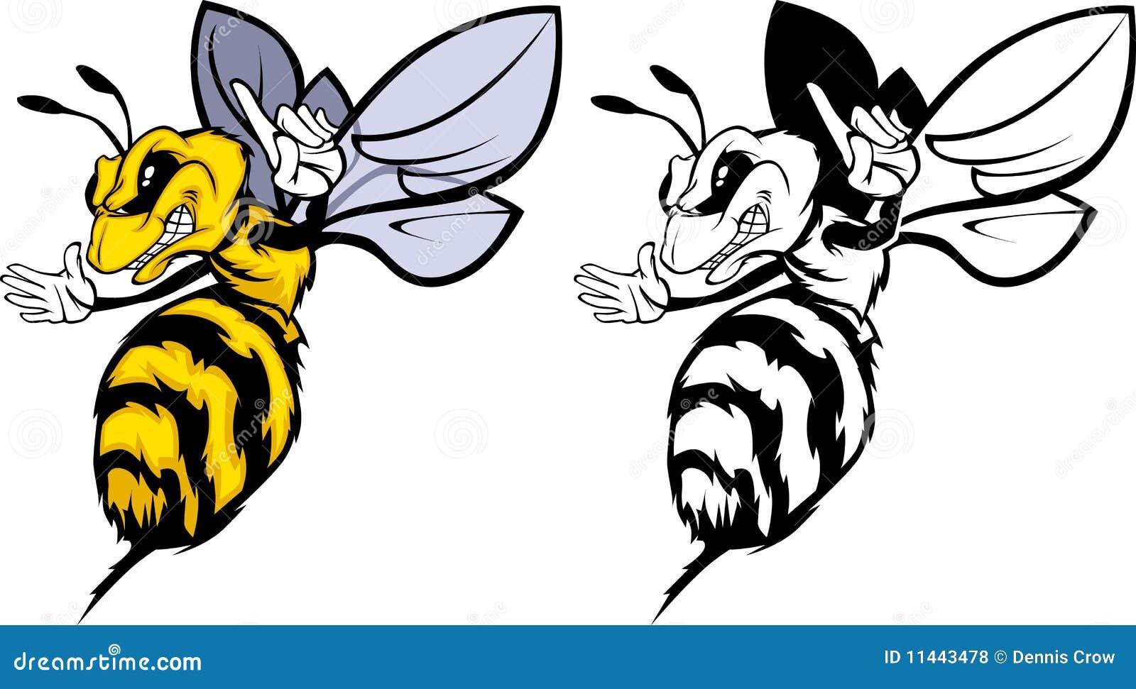Bee Mascot Logo Stock Vector Illustration Of Yellow 11443478