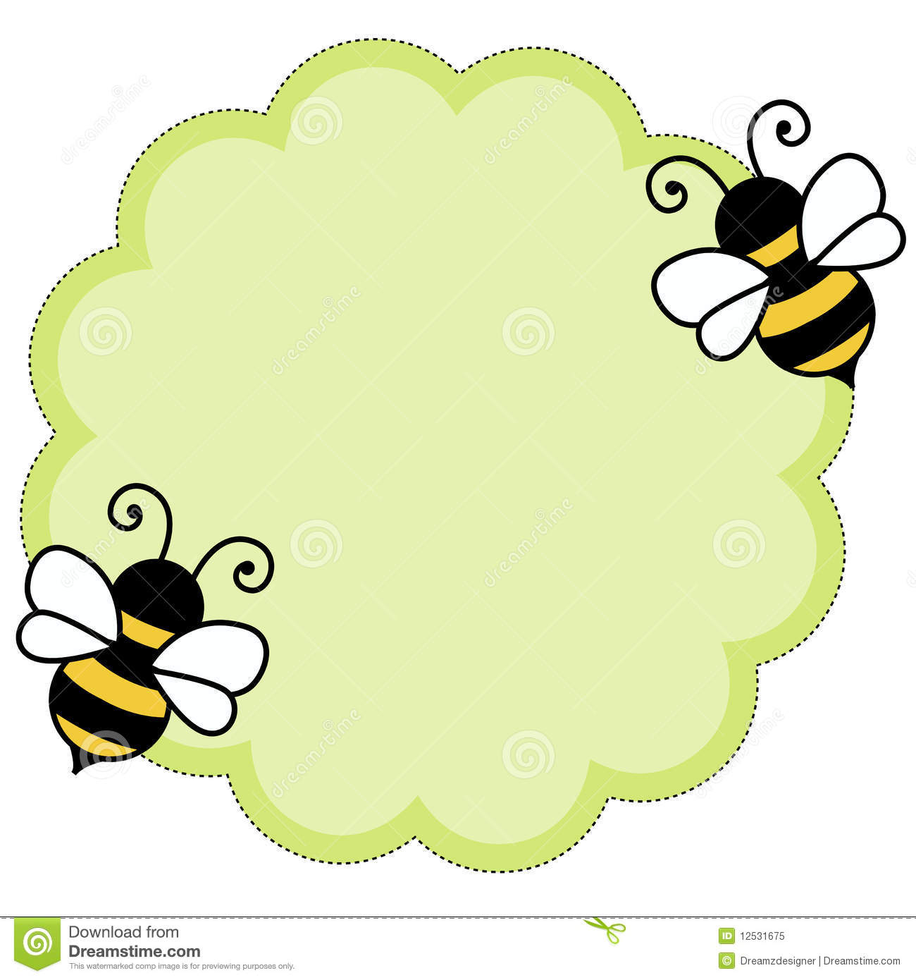 Bee note paper background