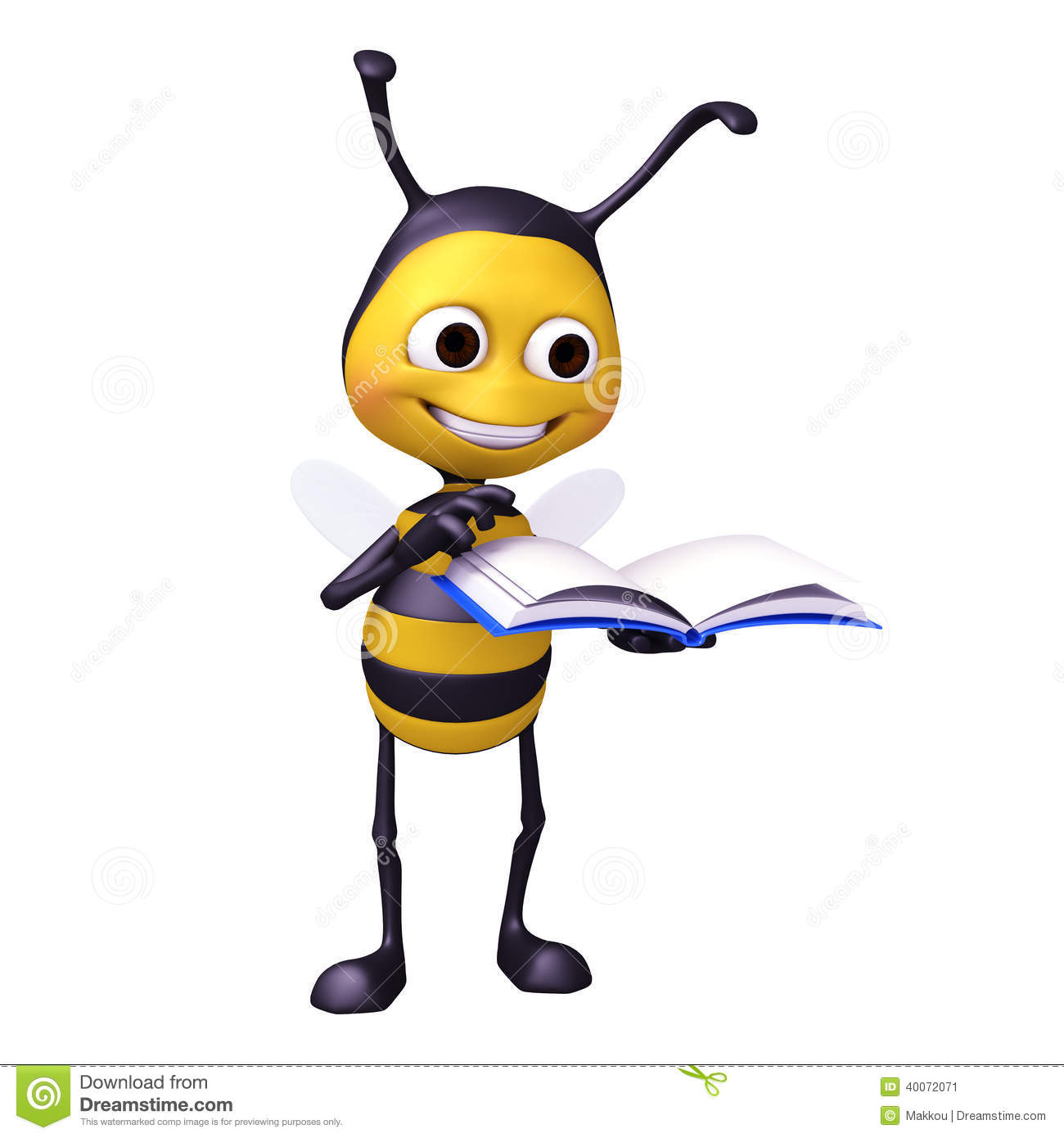 Bee Read A Book Stock Illustration Image 40072071
