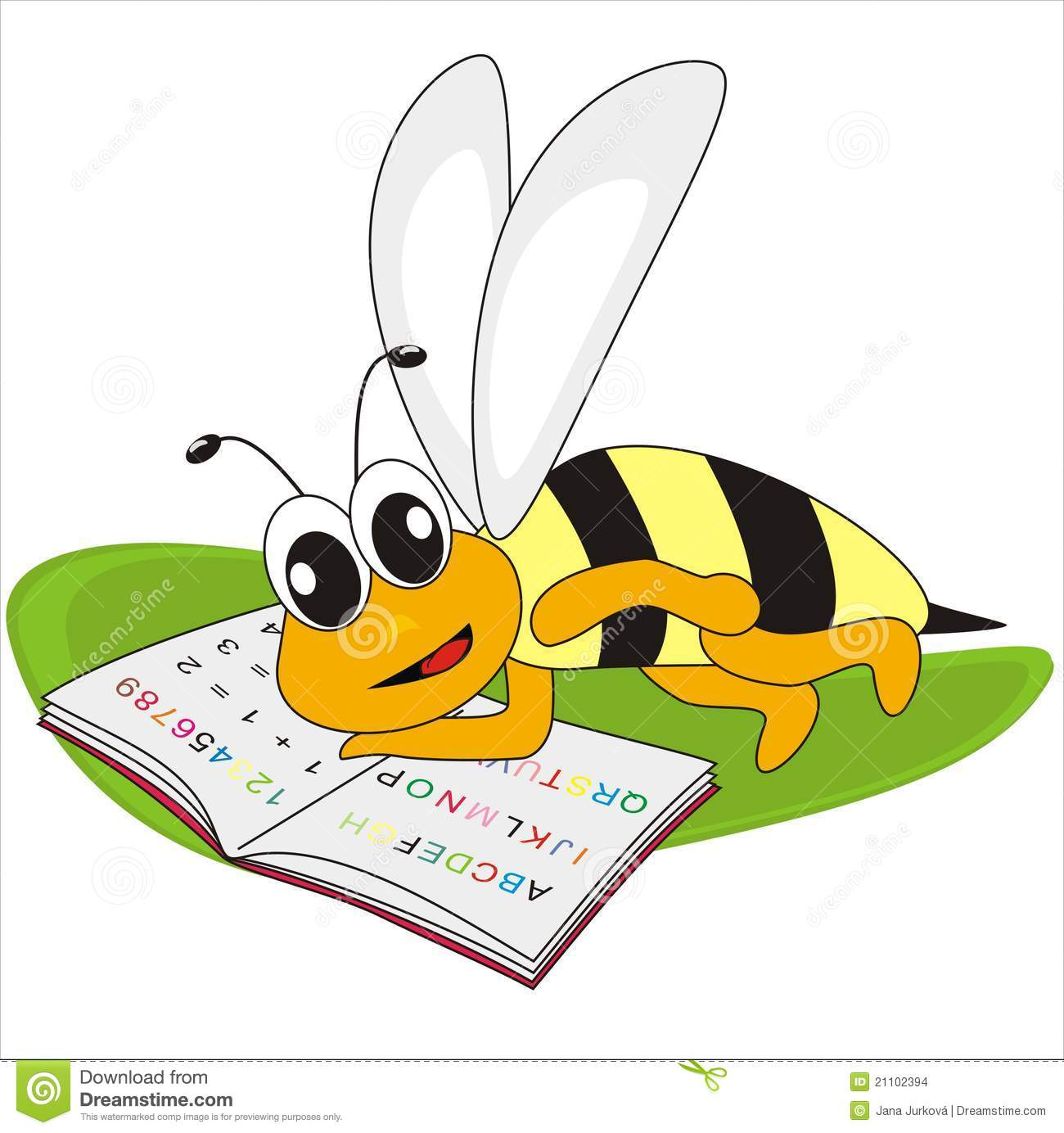 Bee And Spelling-book Stock Images - Image: 21102394