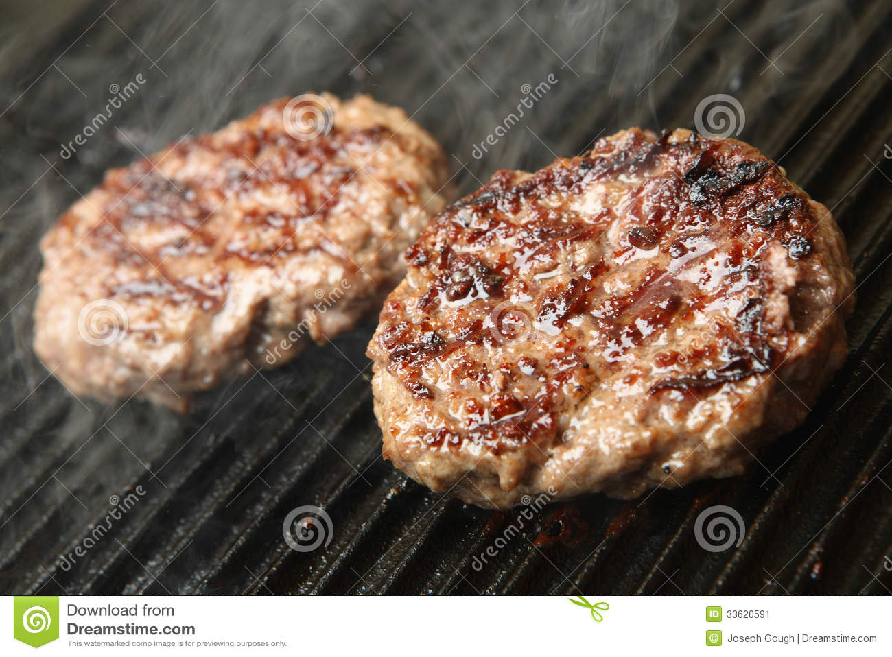 Unhealthy Food Plate Beef Burgers Cooking O...