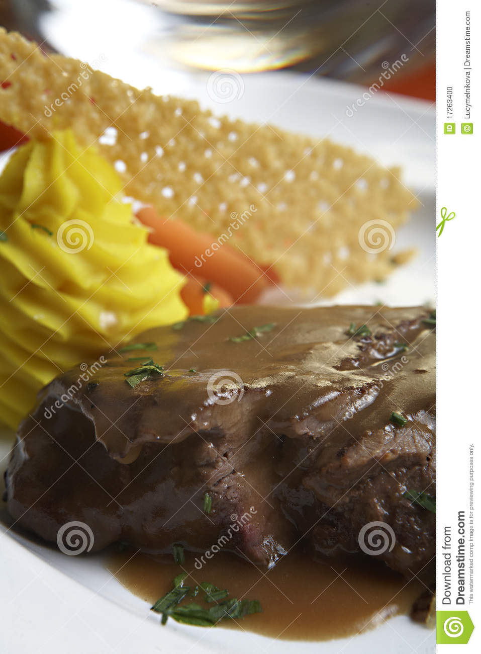 Beef File With Brown Sauce Stock Photo - Image: 17263400