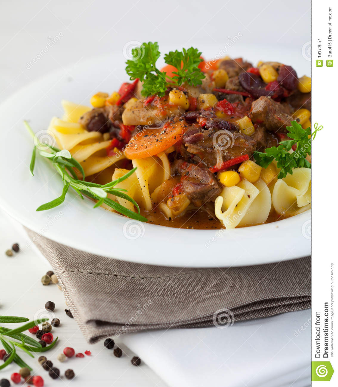 Beef Goulash With Pasta Royalty Free Stock Photography - Image ...