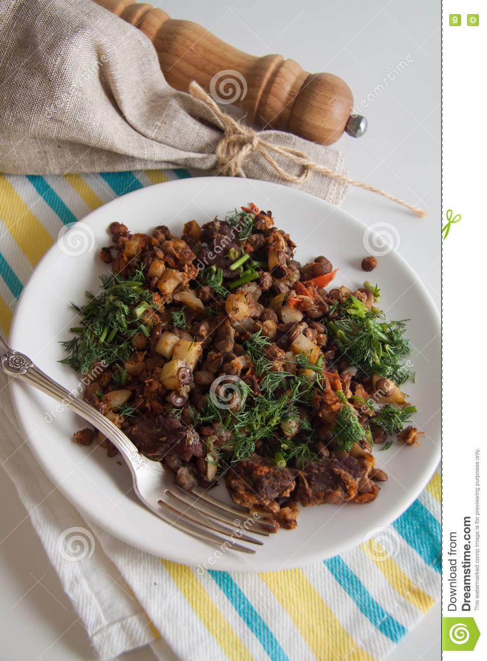 Beef Goulash With Stewed Potato And Pepper Stock PhotoImage