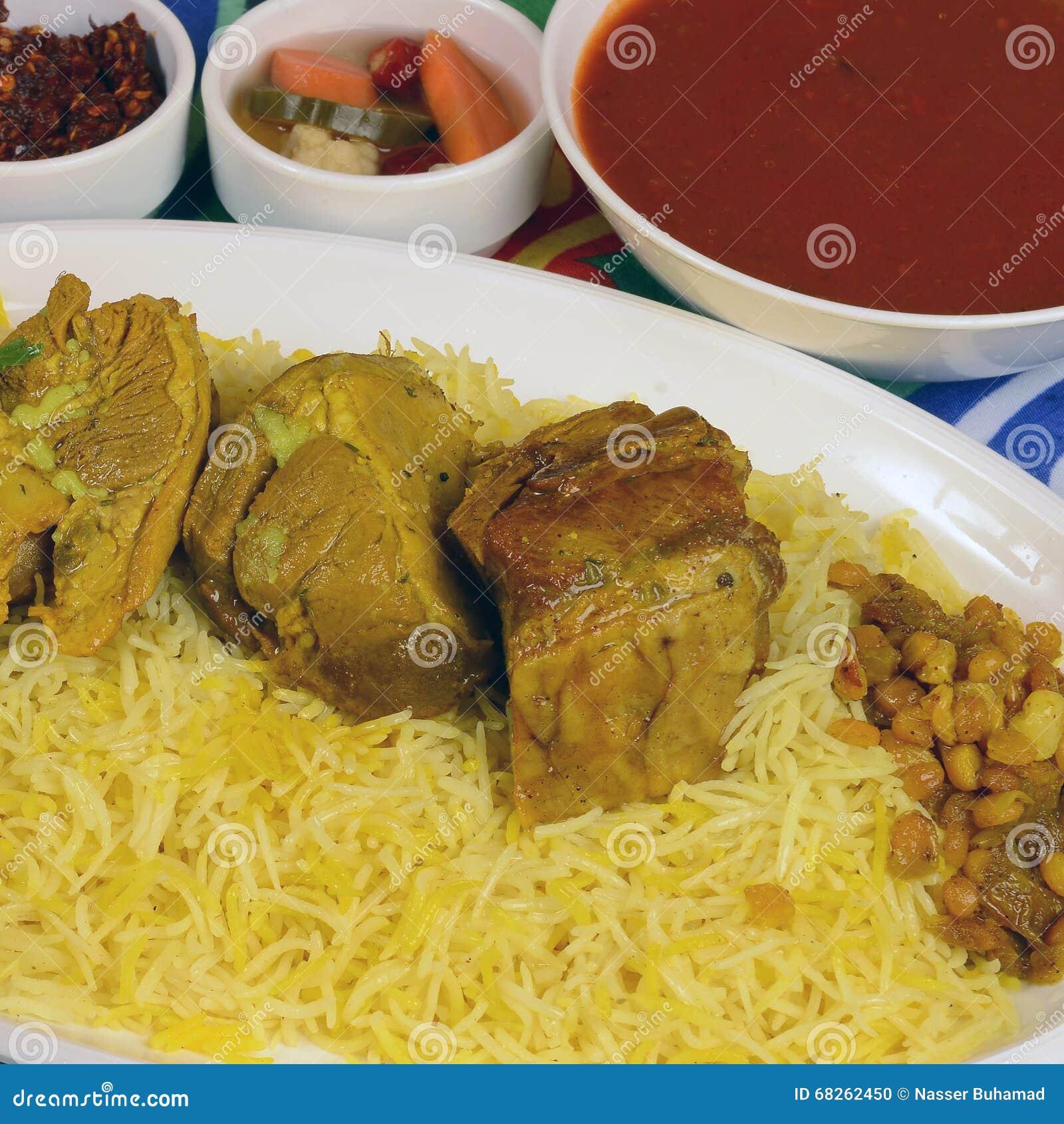 Kapsa shrimp rice recipe stock image for Cuisine yemenite