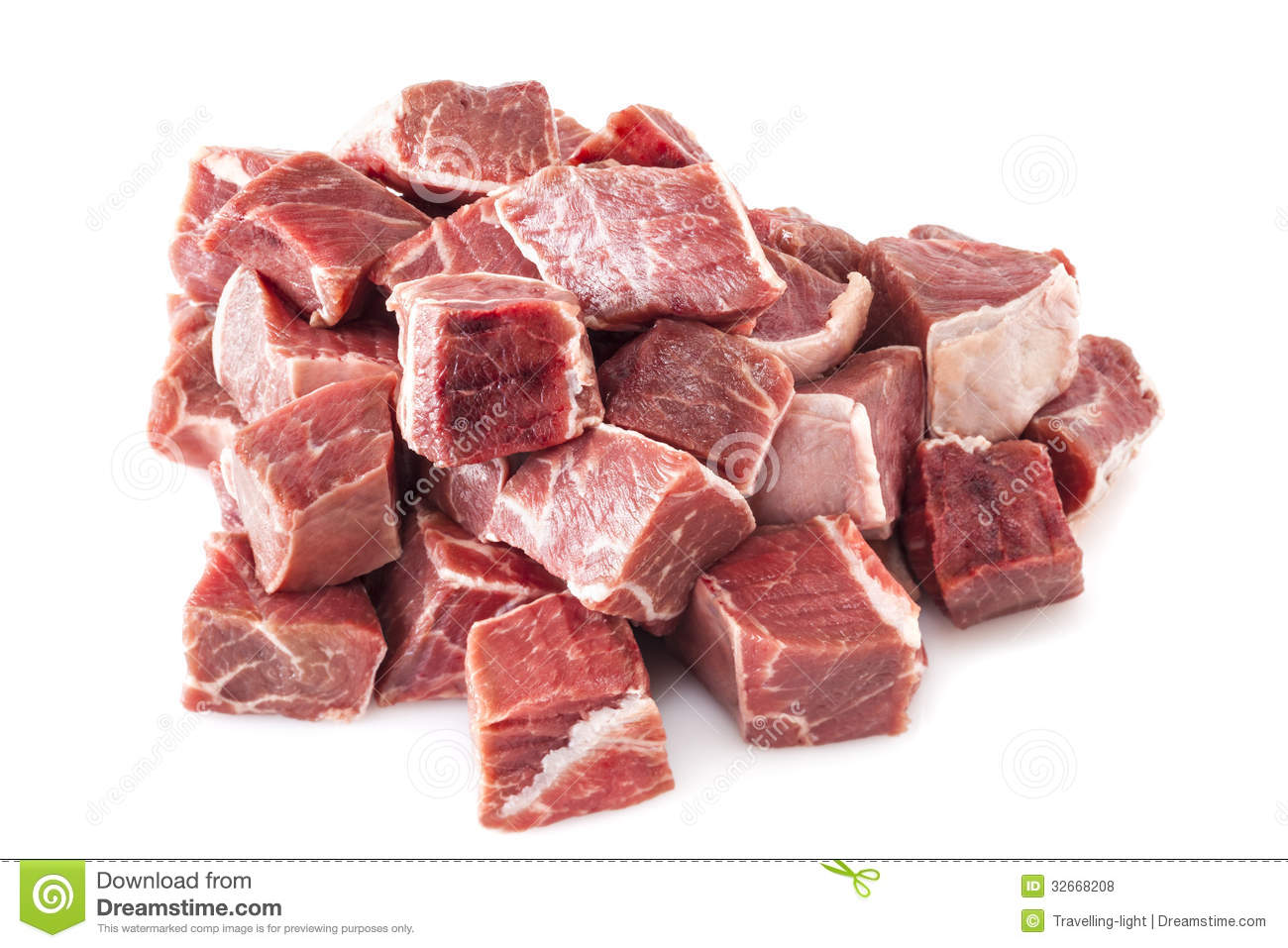 Download Beef Stew Meat Raw stock photo. Image of chuck, stewing - 32668208