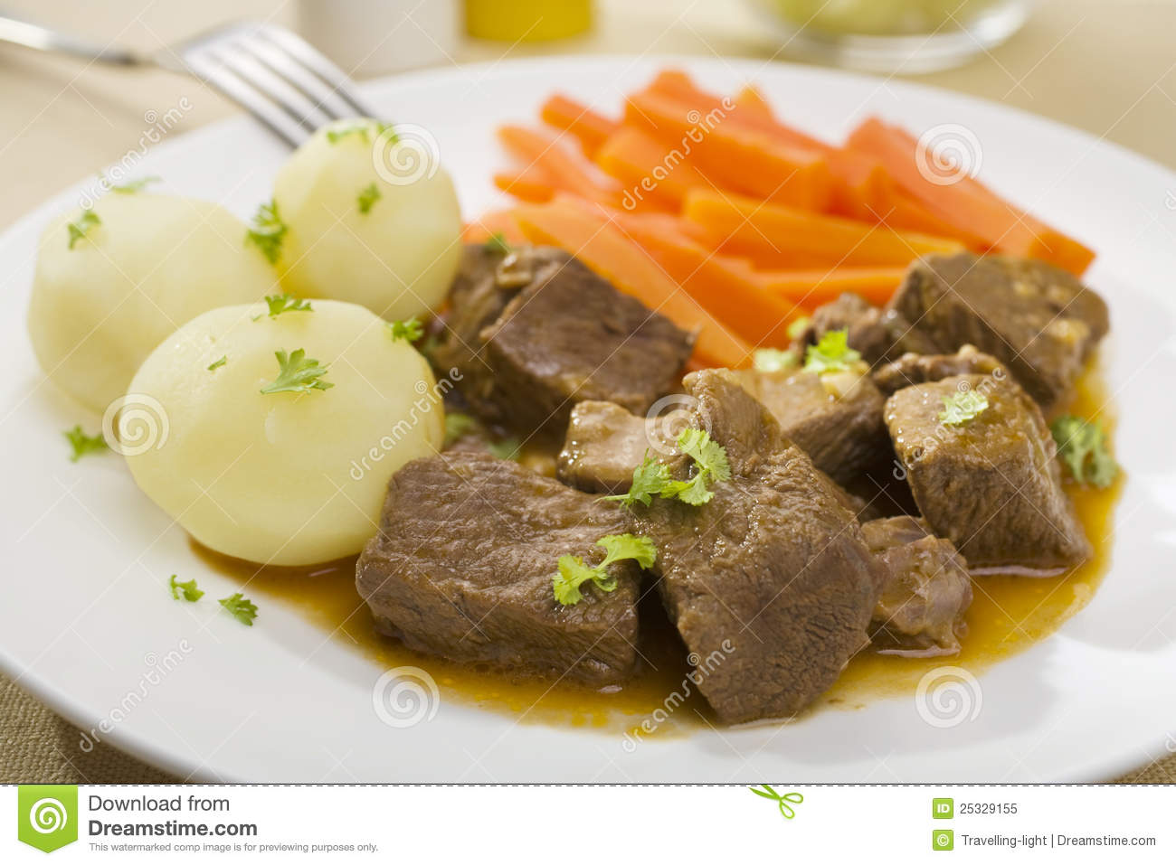 Beef Stew With Potatoes And Carrots Royalty Free Stock Photo - Image ...
