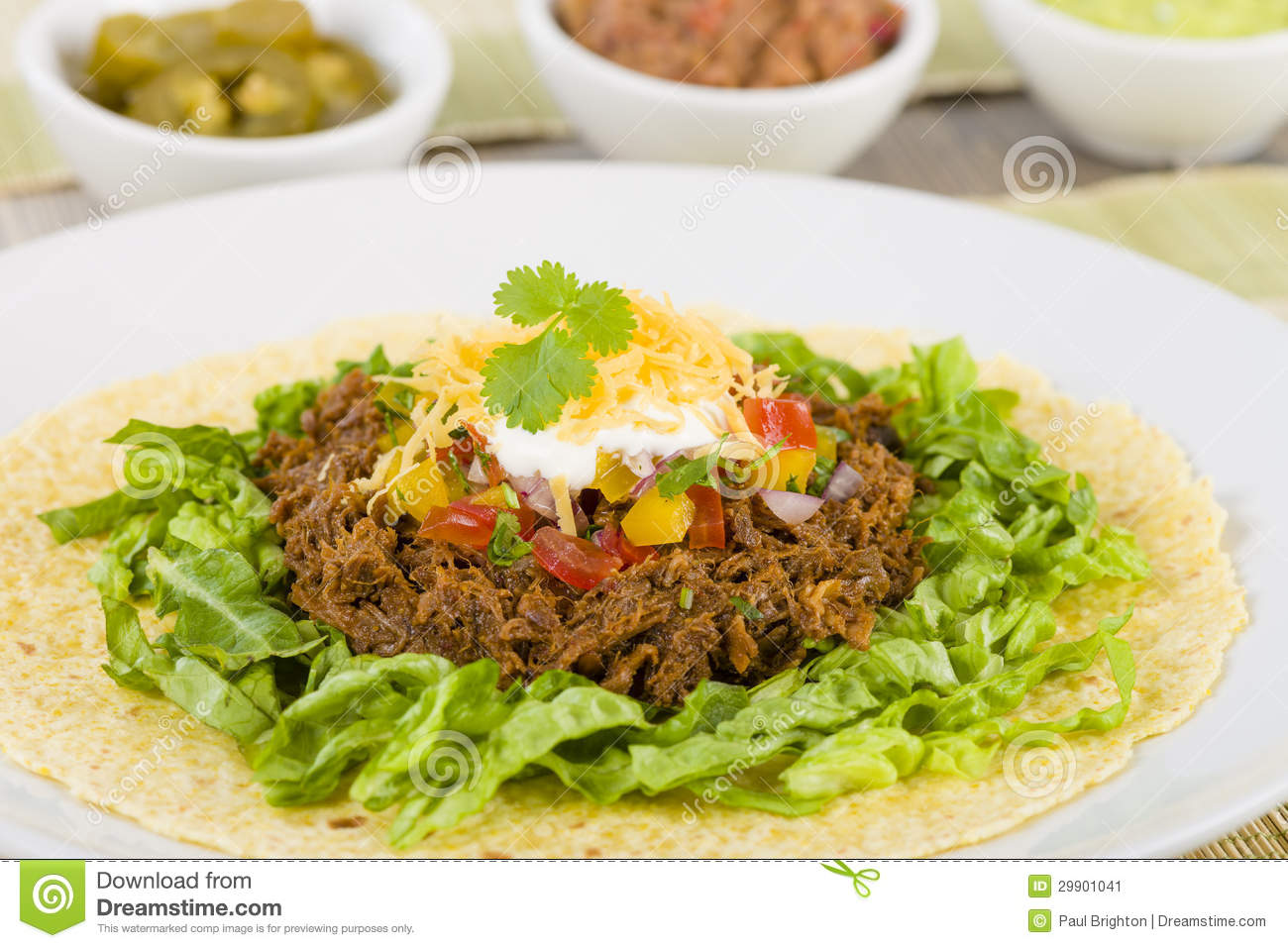 Beef Tacos - Mexican shredded beef tacos in soft corn tortillas served ...