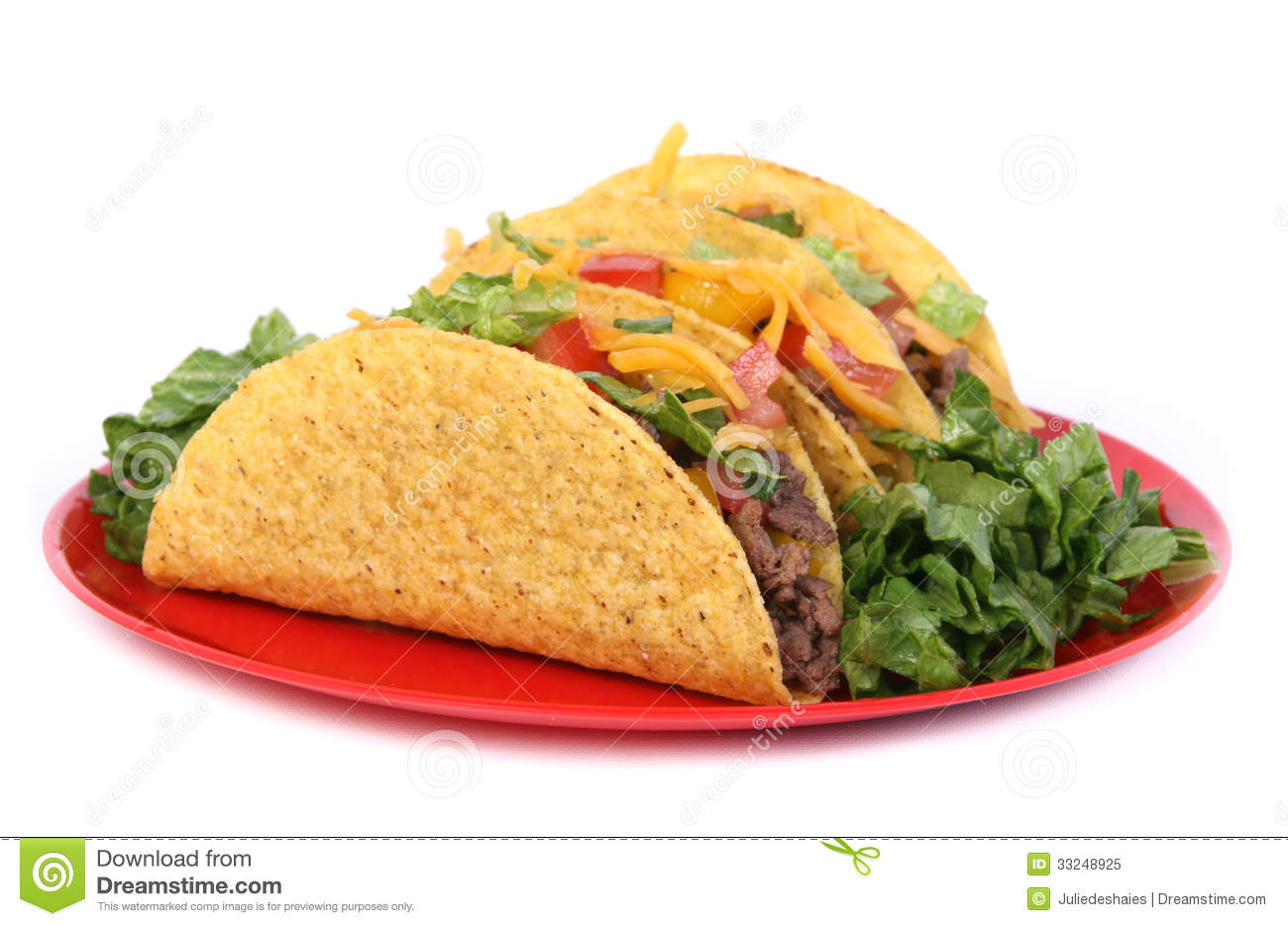 Beef Tacos Plate Royalty Free Stock Photo - Image: 33248925