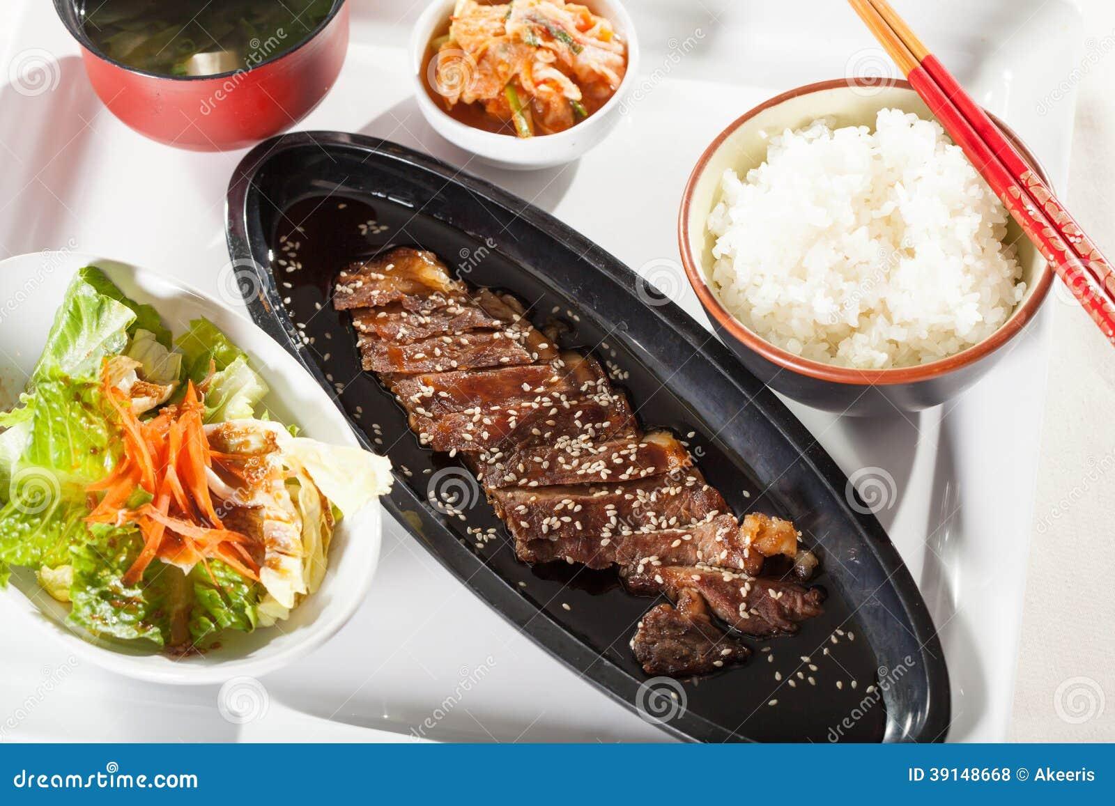 Beef teriyaki set stock photo image 39148668 for Akina japanese cuisine menu