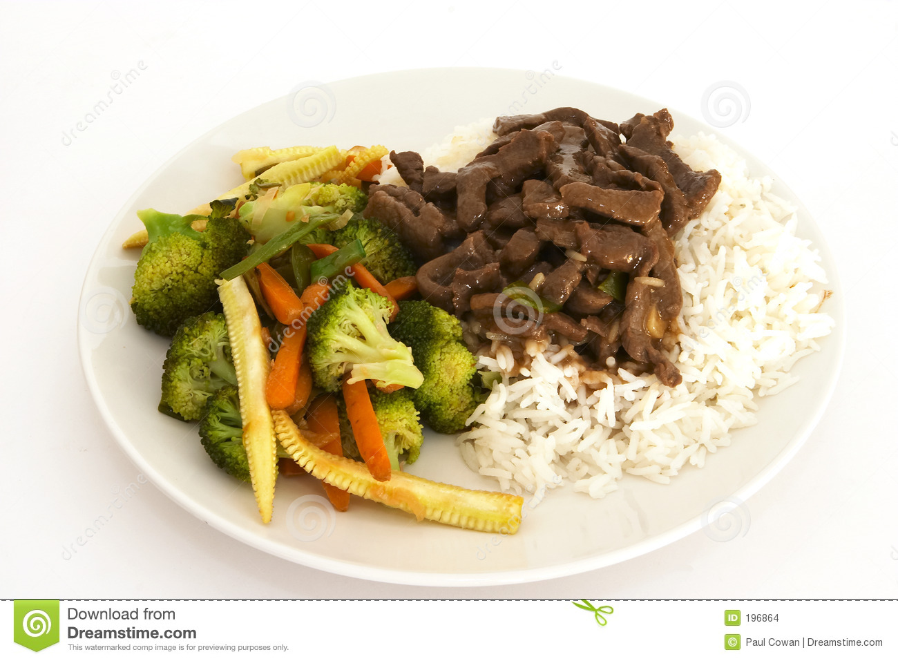 Beef and veg stir-fry