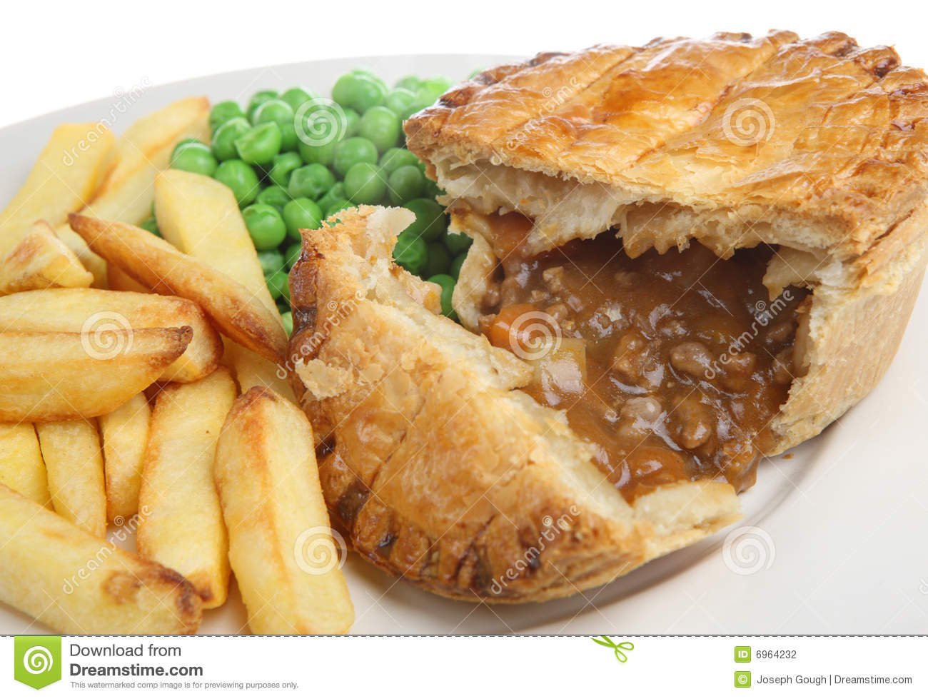 Beef & Vegetable Pie stock photo. Image of ground, puff ...