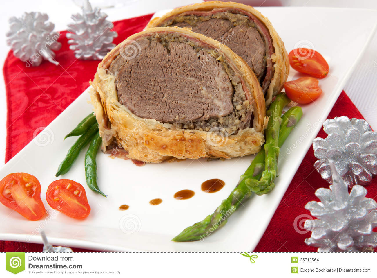 Beef Wellington For Christmas Stock Images - Image: 35713564