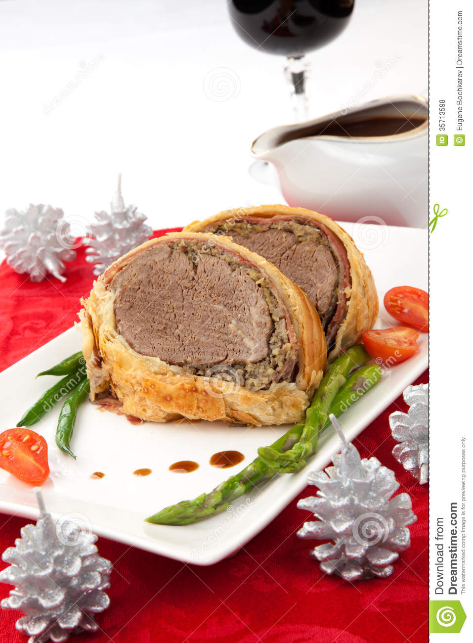 Beef Wellington For Christmas Royalty Free Stock Photos ...