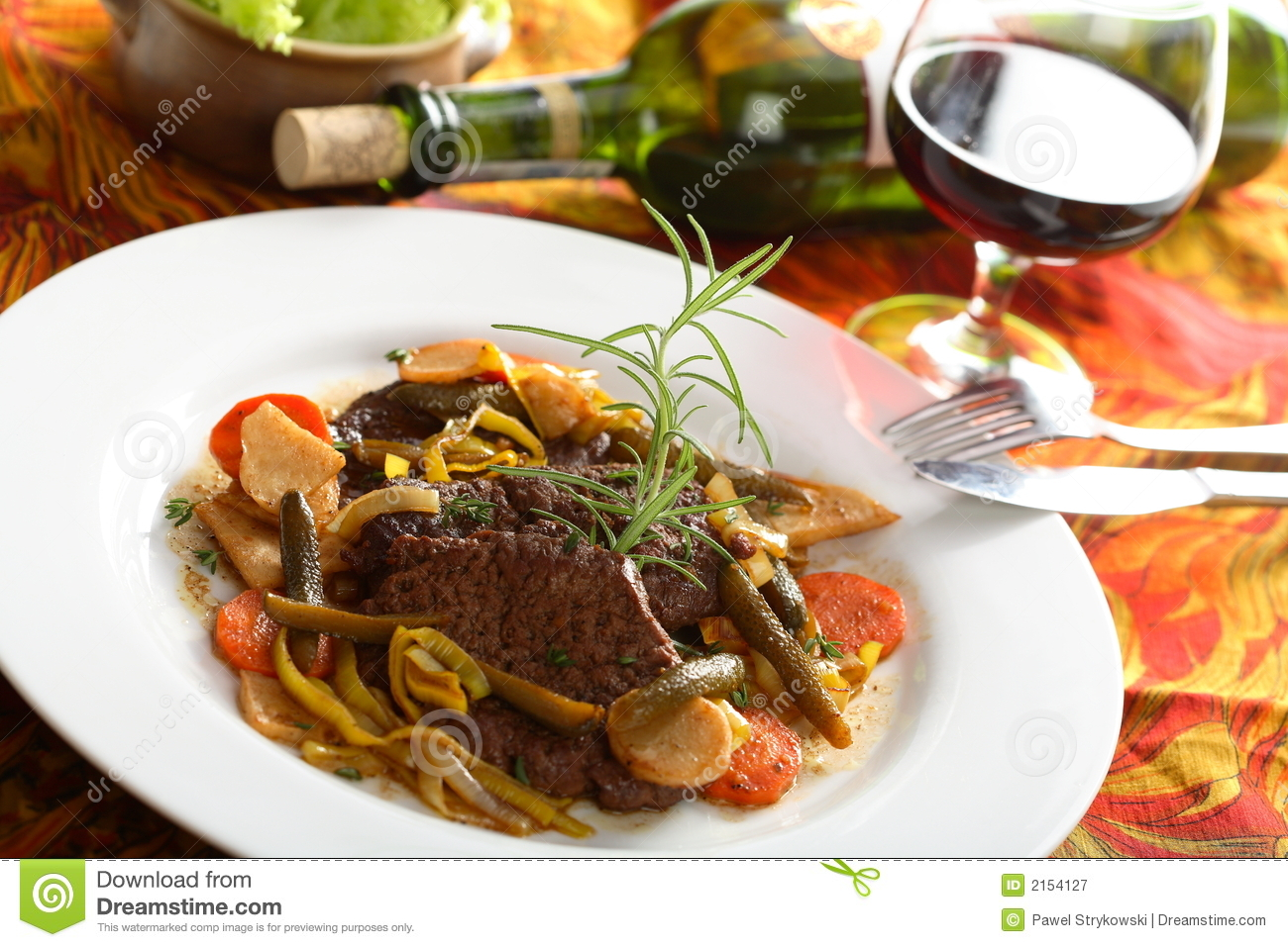 Beef with wine