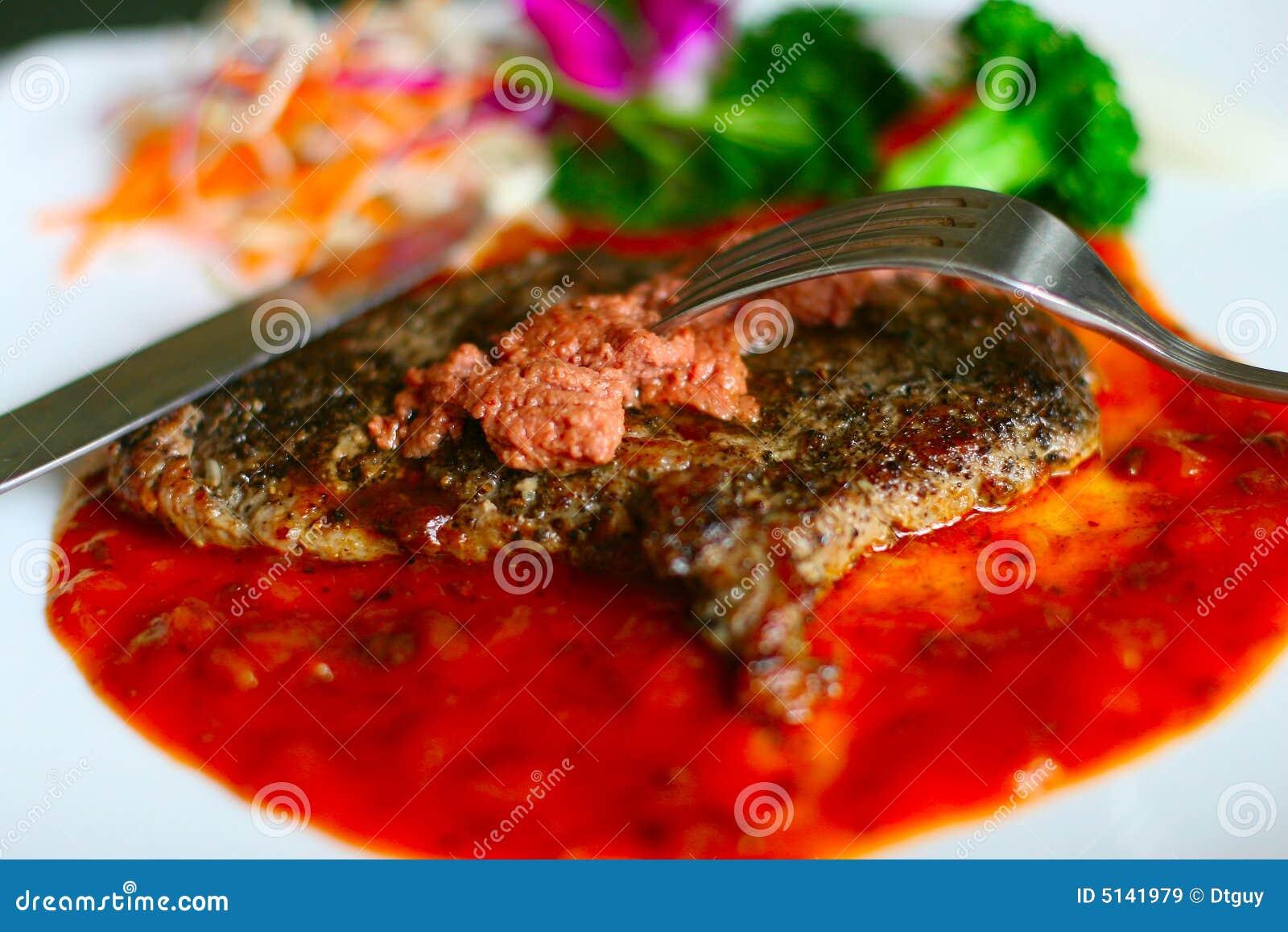 Download Beefsteak stock image. Image of dishware, tableware, tasty - 5141979