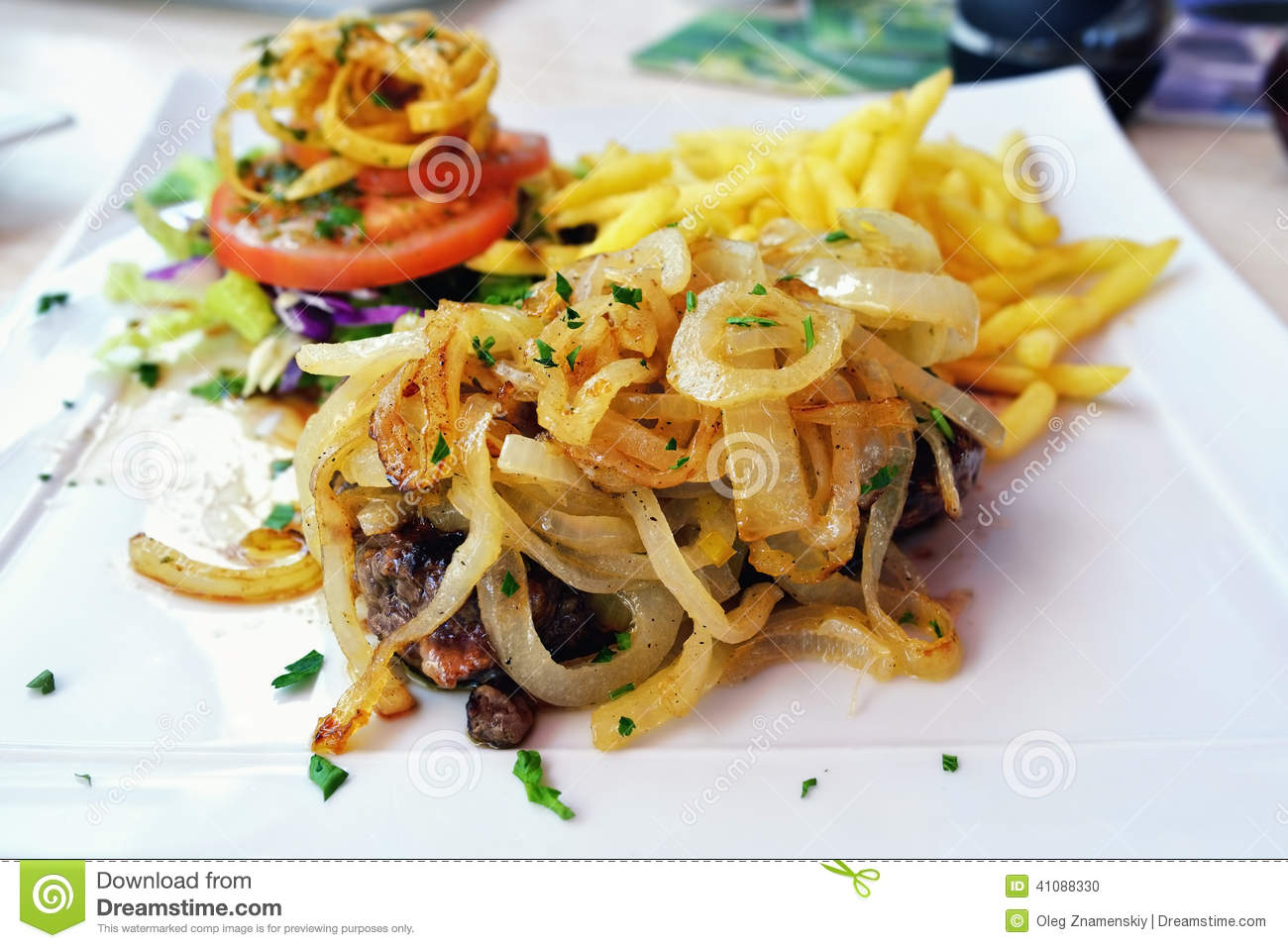 Download Beefsteak stock photo. Image of lunch, garlic, barbecue - 41088330