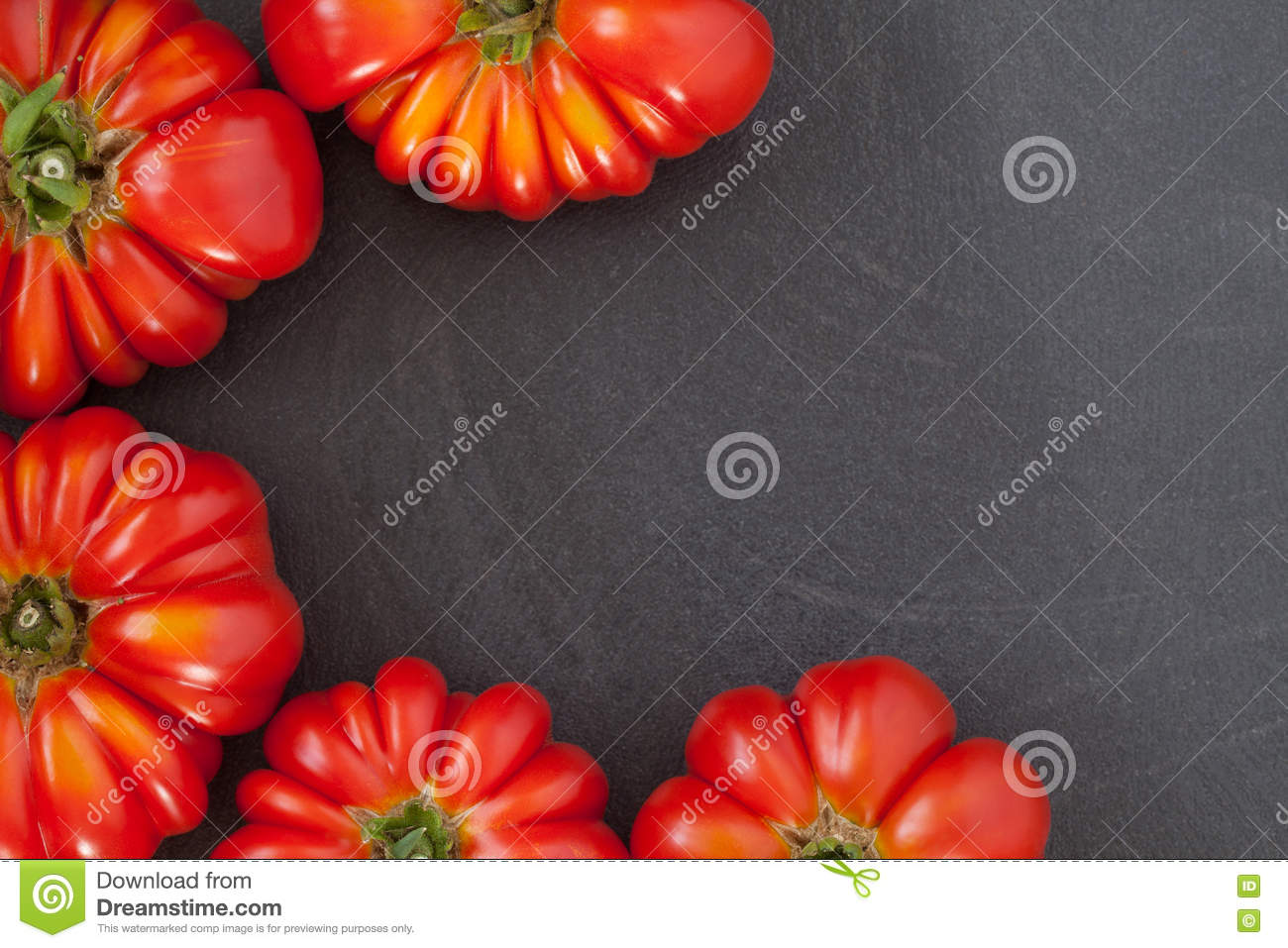 Download Beefsteak Tomatoes Frame stock photo. Image of beefsteak - 74075024