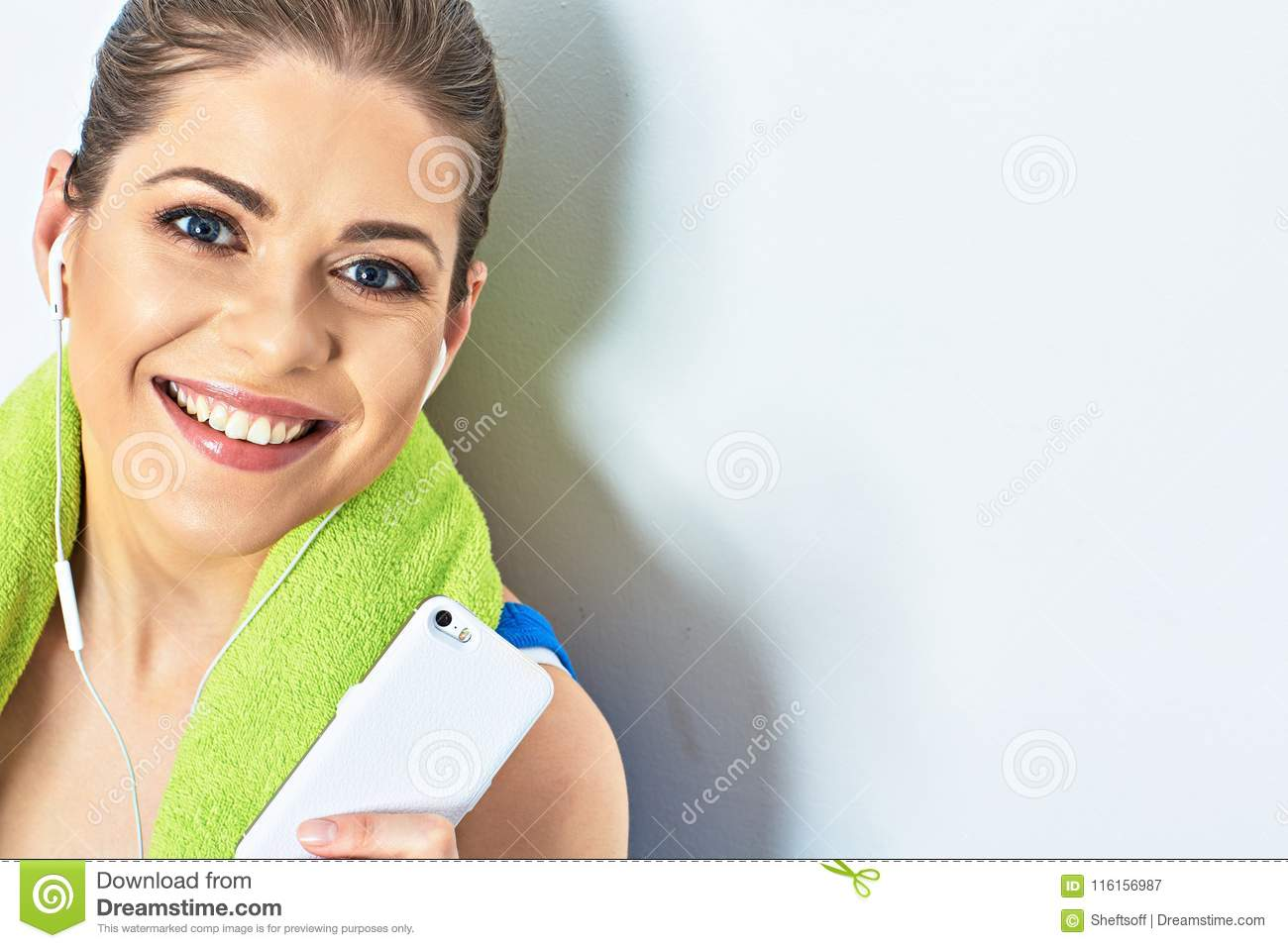 beeg toothy smile. close up face portrait of teeth smile woman stock