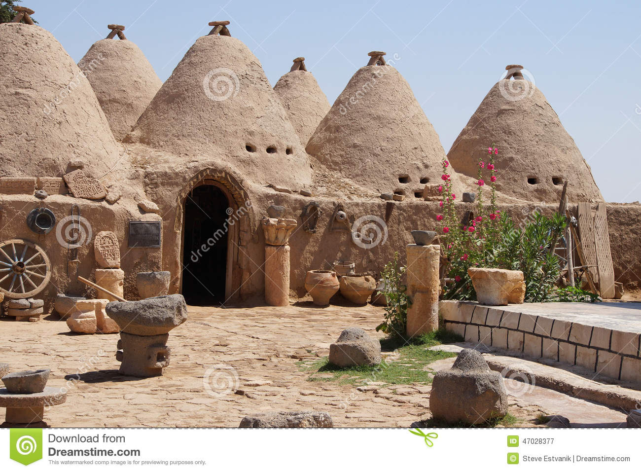 Beehive Desert Houses Stock Image Image Of House