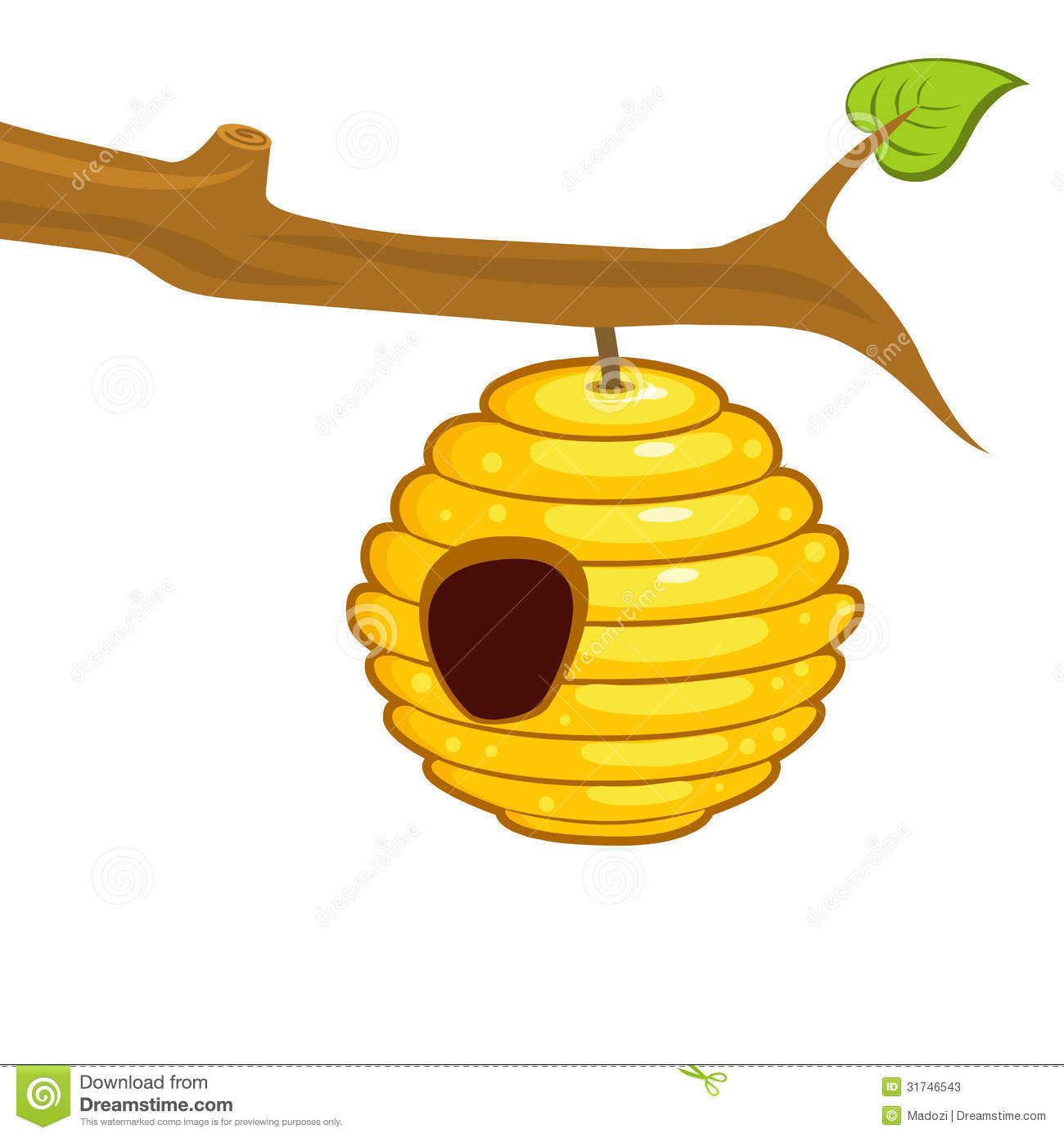 Beehive Hanging From A Branch Stock Photos - Image: 31746543