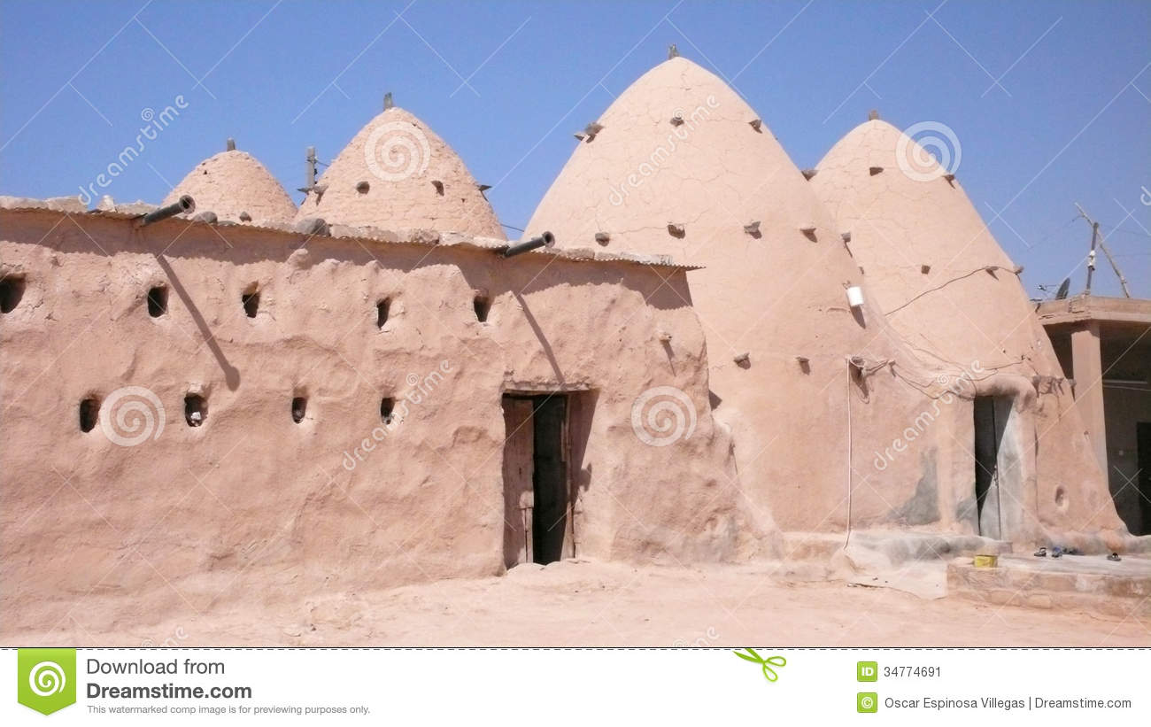 Beehive Homes Traditional House Syria Stock Image
