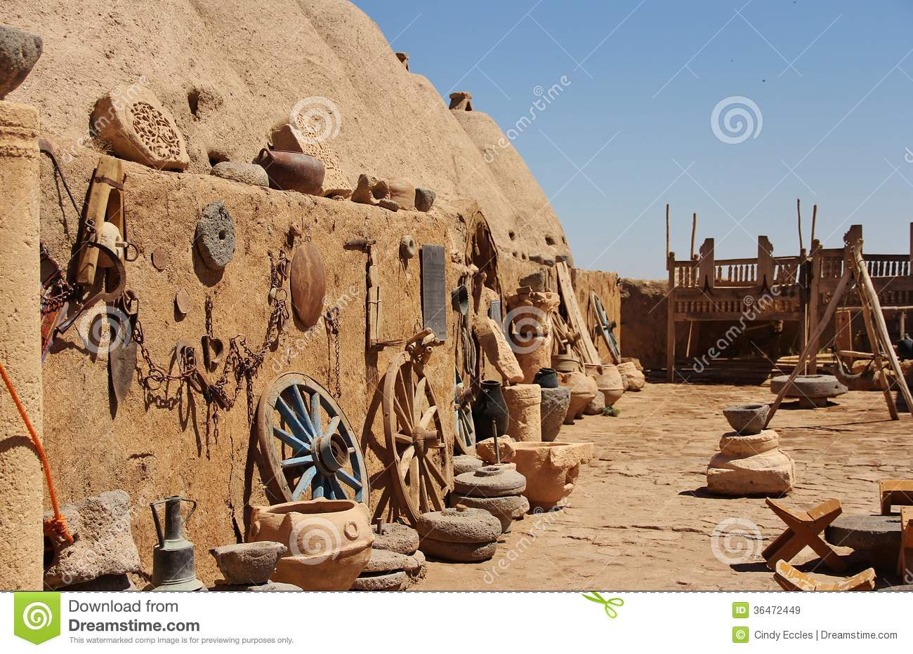 Beehive Houses In Village Of Harran Stock Image Image