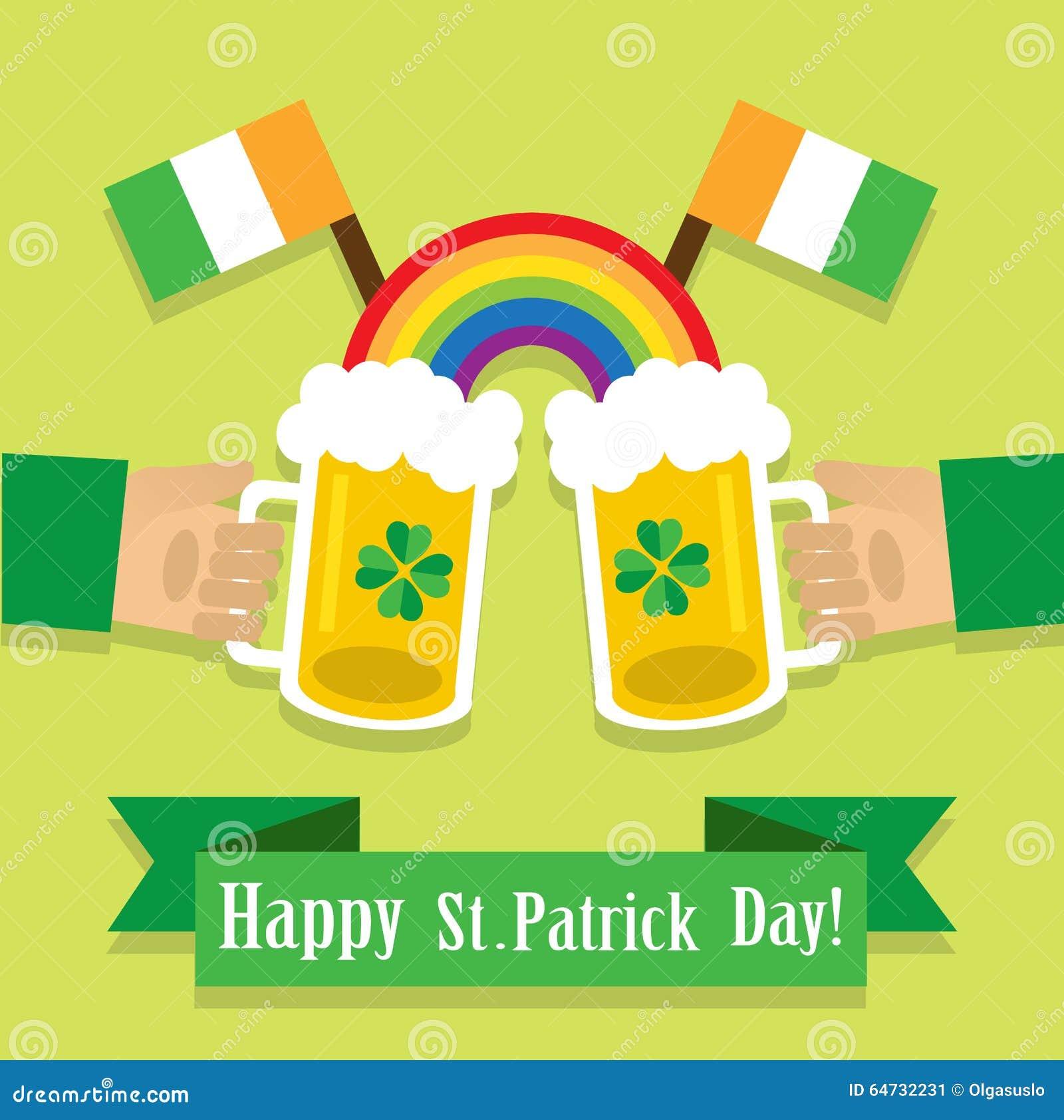 Beeld met een bier op St Patrick Dag