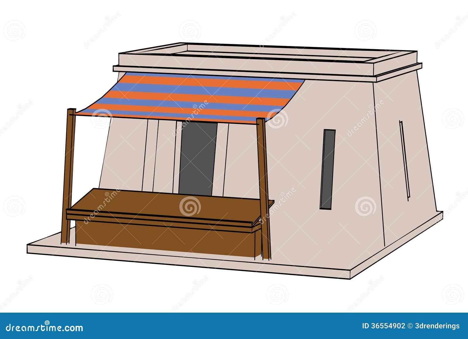 Beeld van egyptisch huis stock illustratie afbeelding bestaande uit hand 36554902 - Beeld van eigentijds huis ...