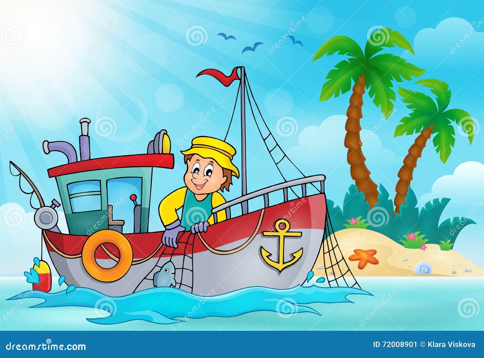 Beeld 5 van het vissersbootthema