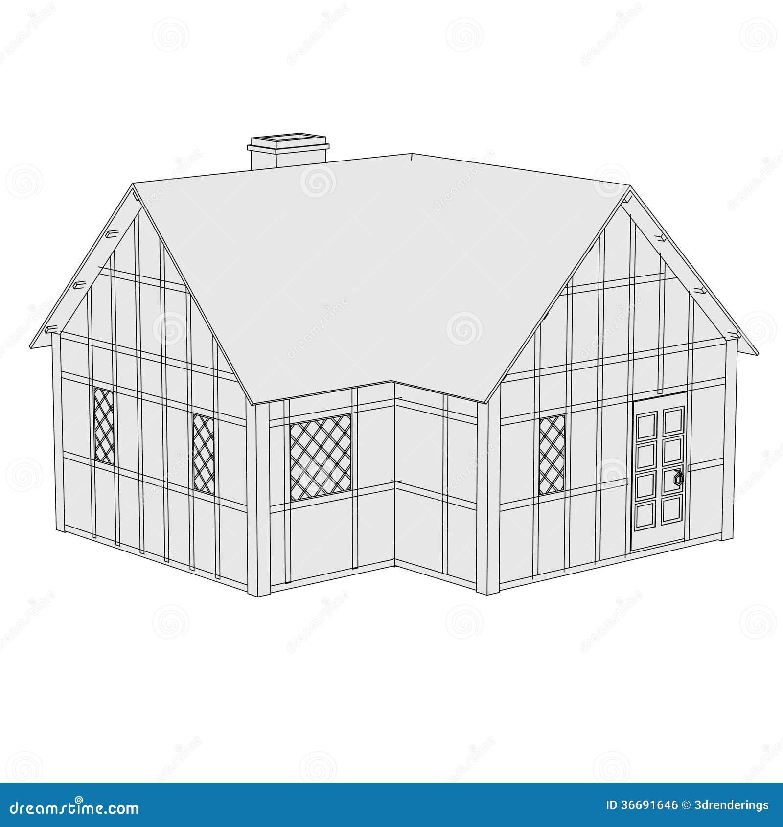 Beeld van middeleeuws huis stock illustratie afbeelding bestaande uit building 36691646 - Beeld van eigentijds huis ...