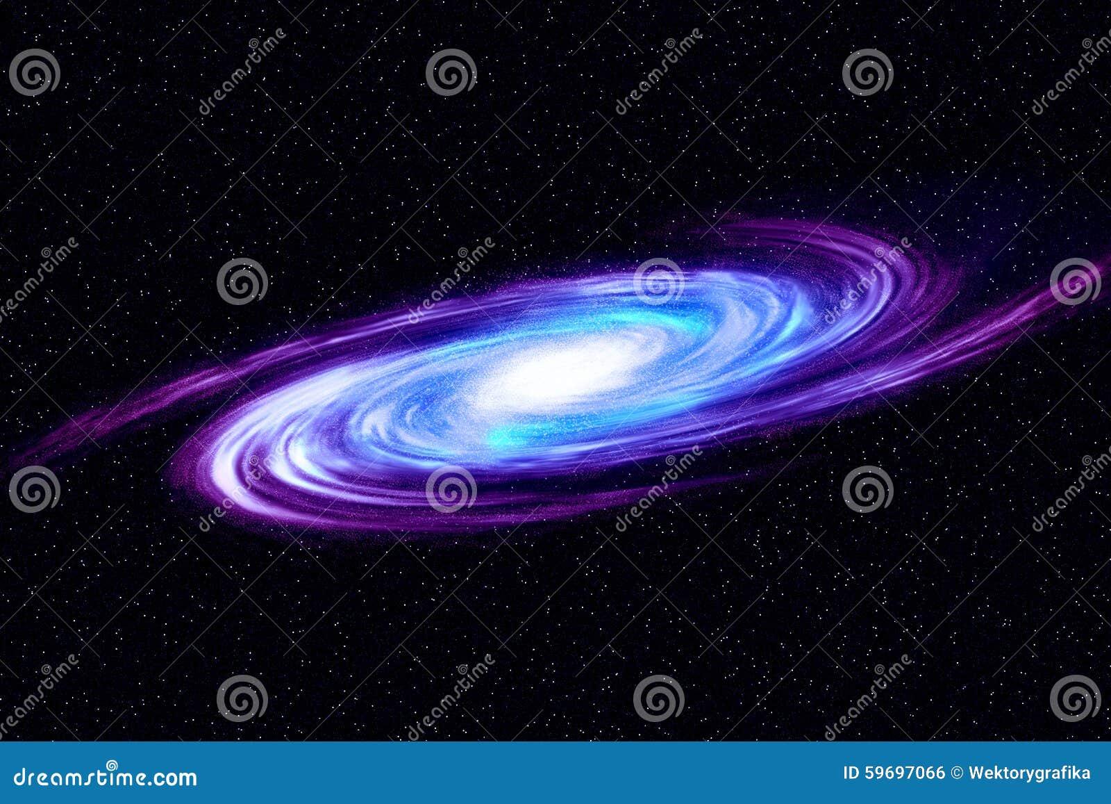 Beeld van spiraalvormige melkweg Spiraalvormige melkweg in diepe ruimte met de achtergrond van het stergebied Computer geproducee