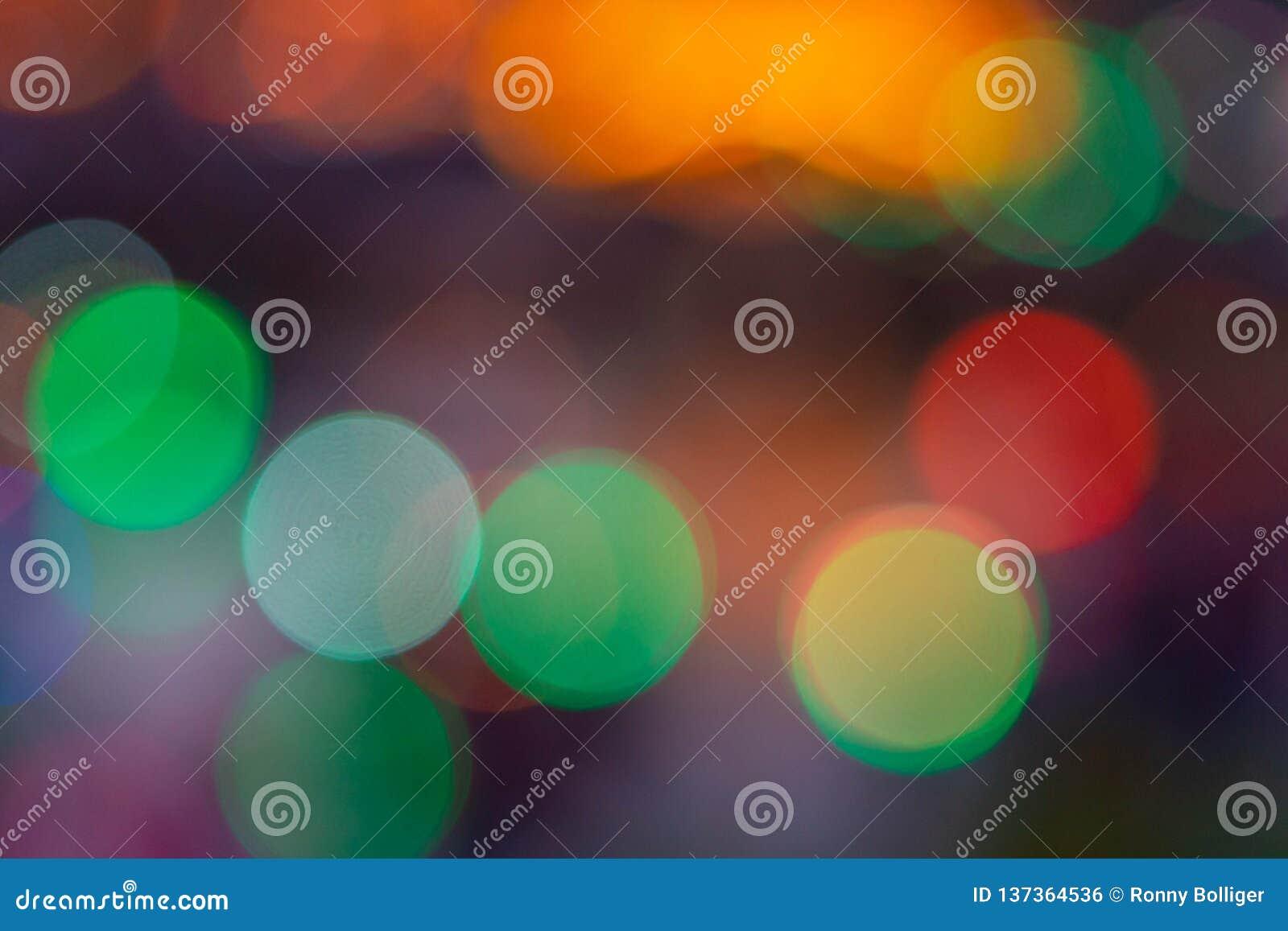 Beeld van vage bokeh achtergrond met warme kleurrijke lichten Uitstekende toon