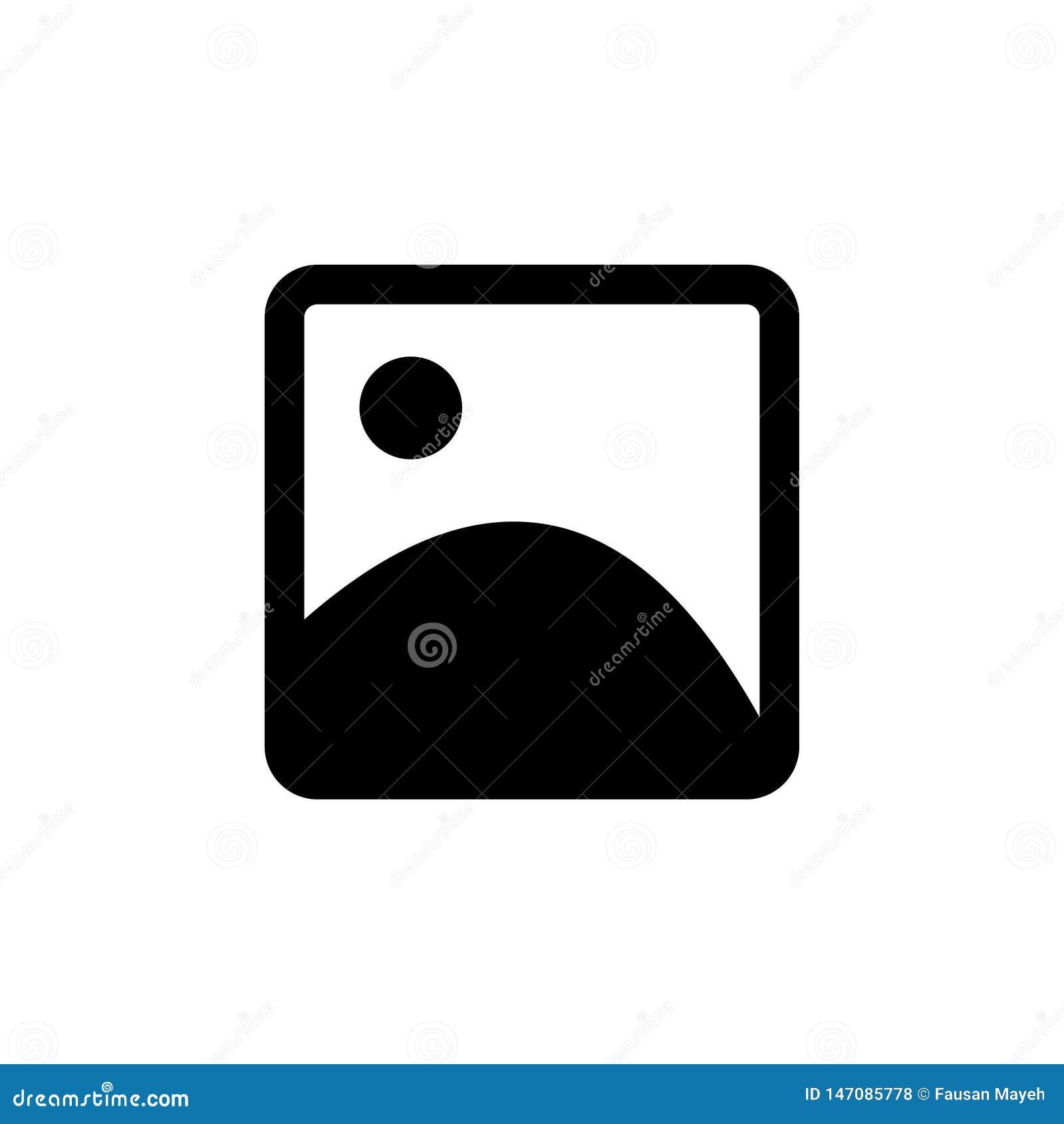Beeld vectorpictogram E Fotopictogram Beeld vectorpictogram, beeldsymbool