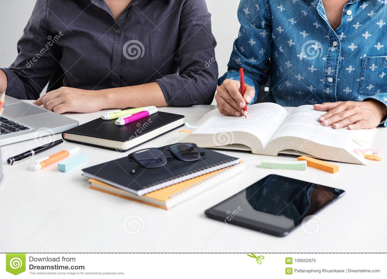 Beelden van Teleurgestelde, Jonge studentencampus of klasgenotenhulp