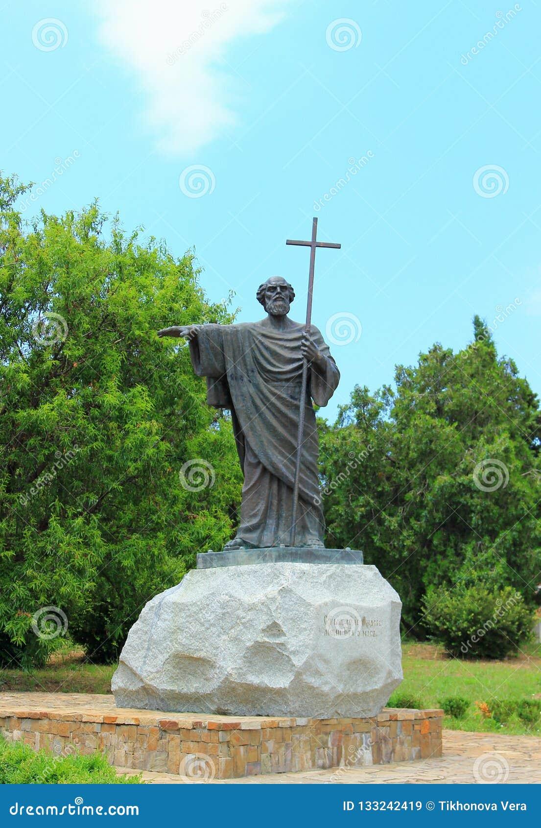 Beeldhouwwerk aan Heilige Apostel Andrew eerste-Geroepen