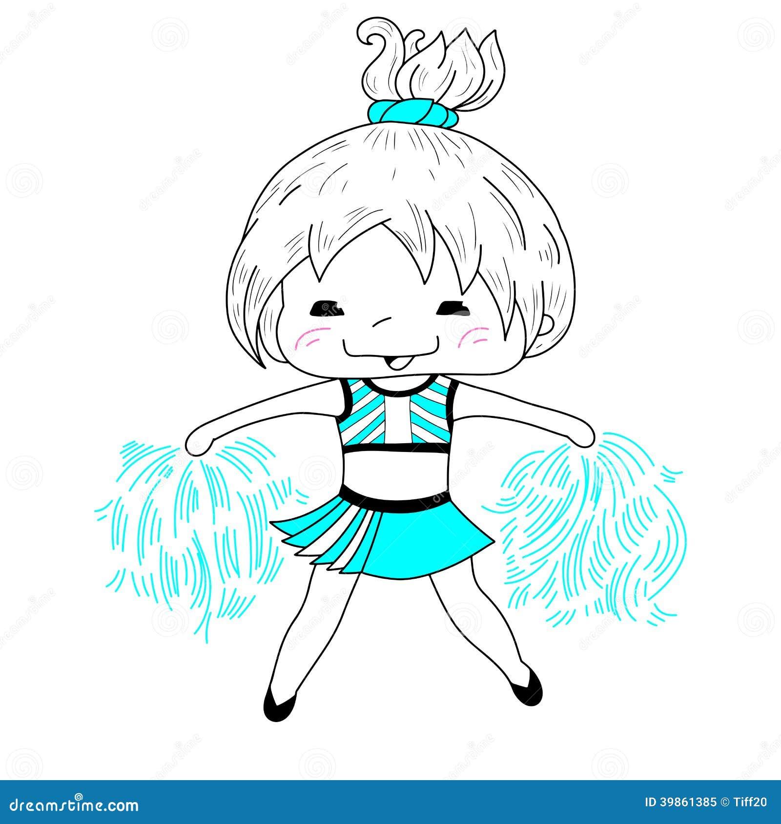 Beeldverhaal cheerleader